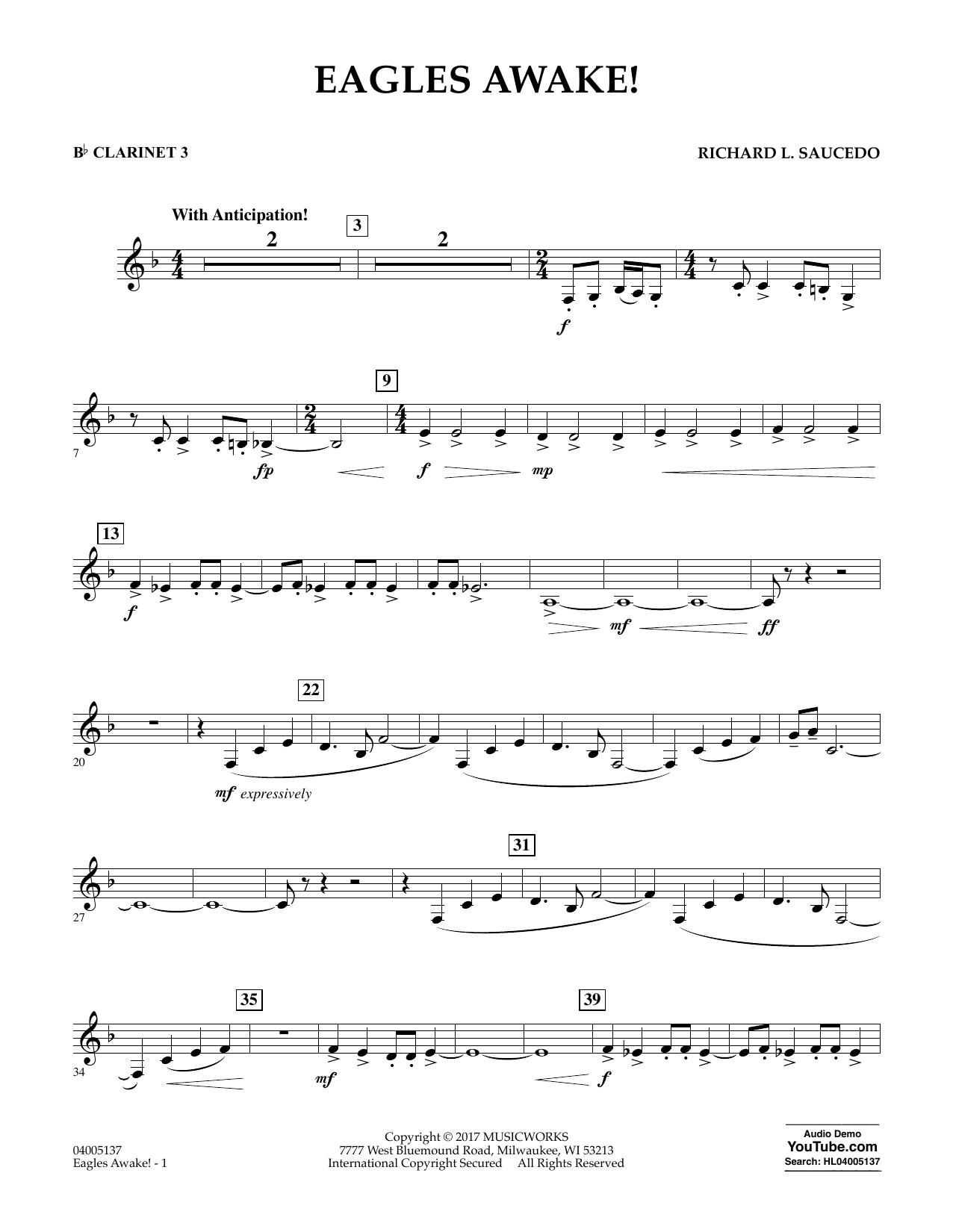 Eagles Awake! - Bb Clarinet 3 Sheet Music