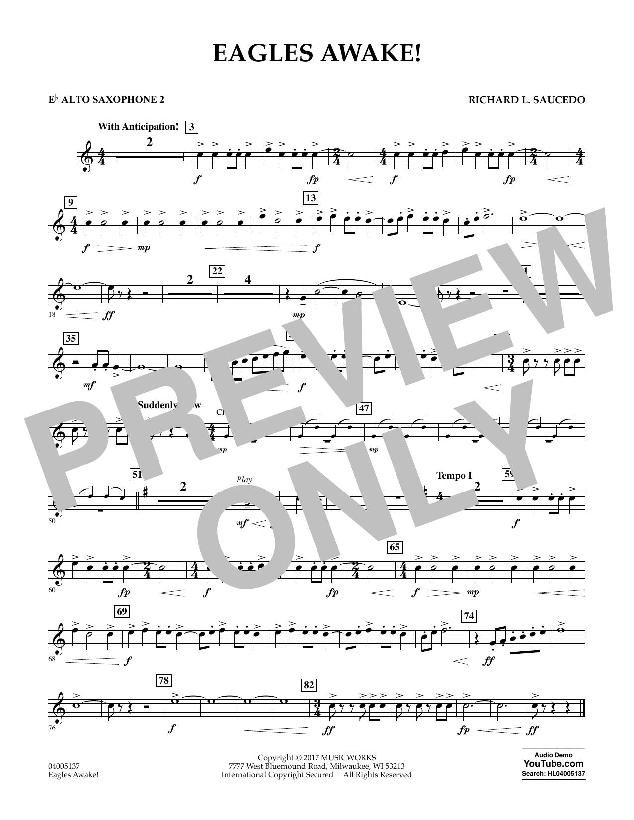 Eagles Awake! - Eb Alto Saxophone 2 Sheet Music