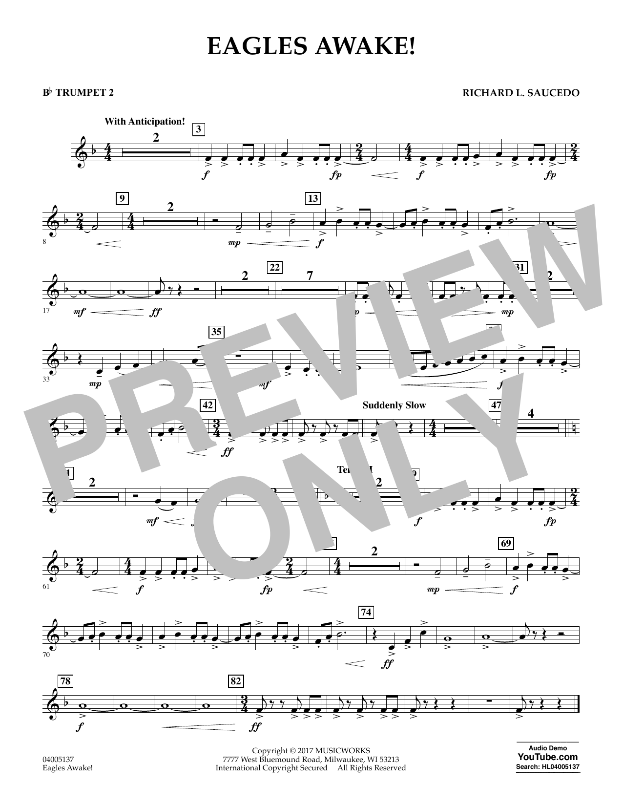 Eagles Awake! - Bb Trumpet 2 (Concert Band)