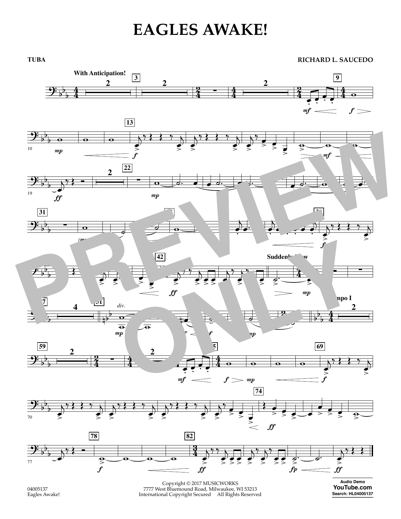 Eagles Awake! - Tuba Sheet Music
