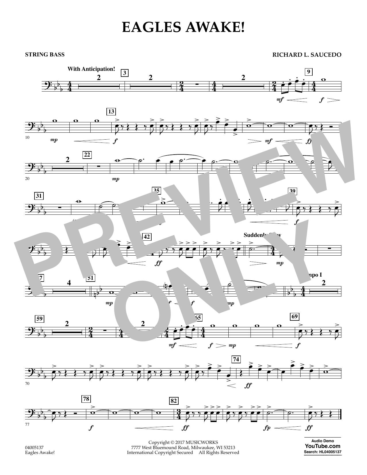 Eagles Awake! - String Bass Sheet Music