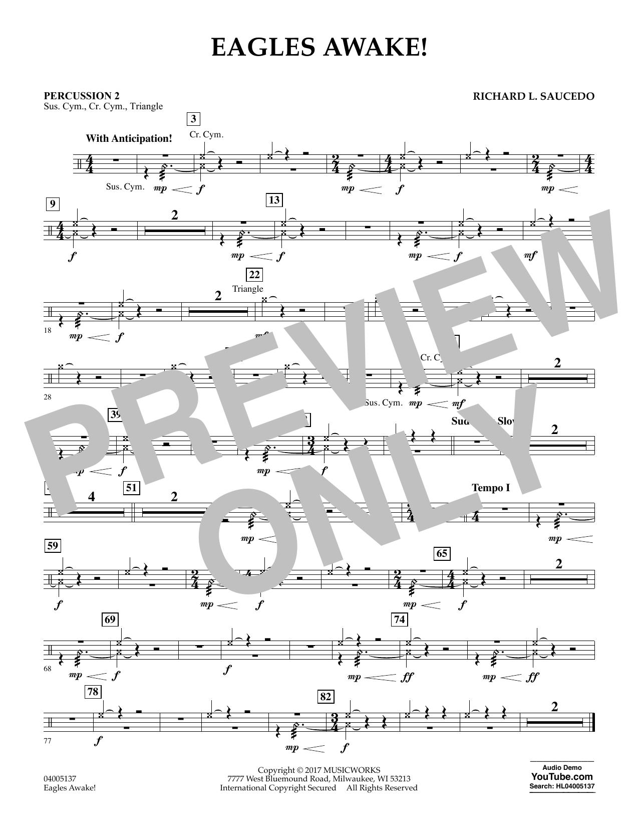 Eagles Awake! - Percussion 2 Sheet Music