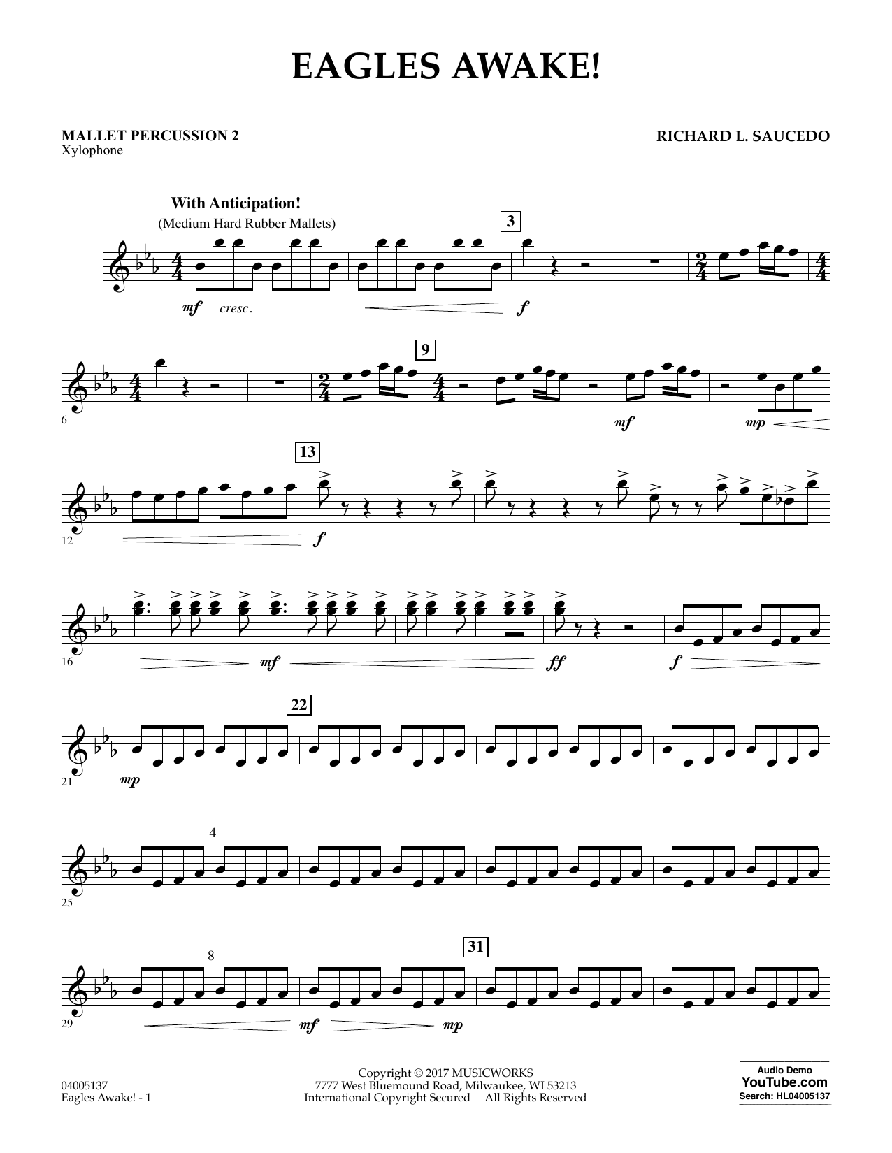 Eagles Awake! - Mallet Percussion 2 Digitale Noten