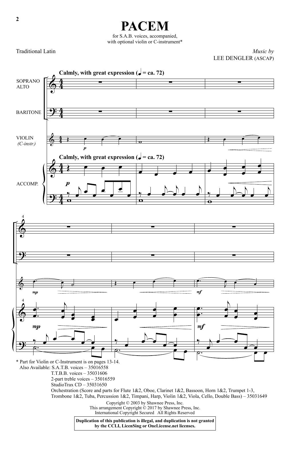 Pacem (SAB Choir)