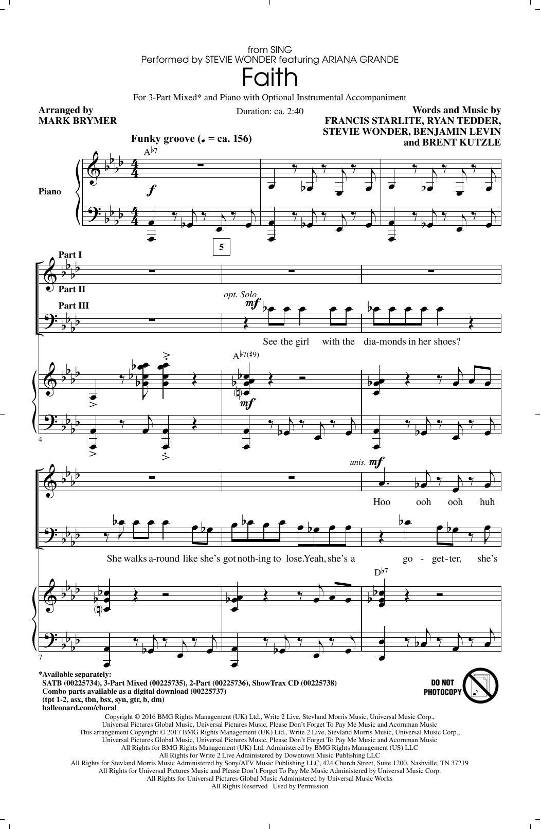 Faith Sheet Music