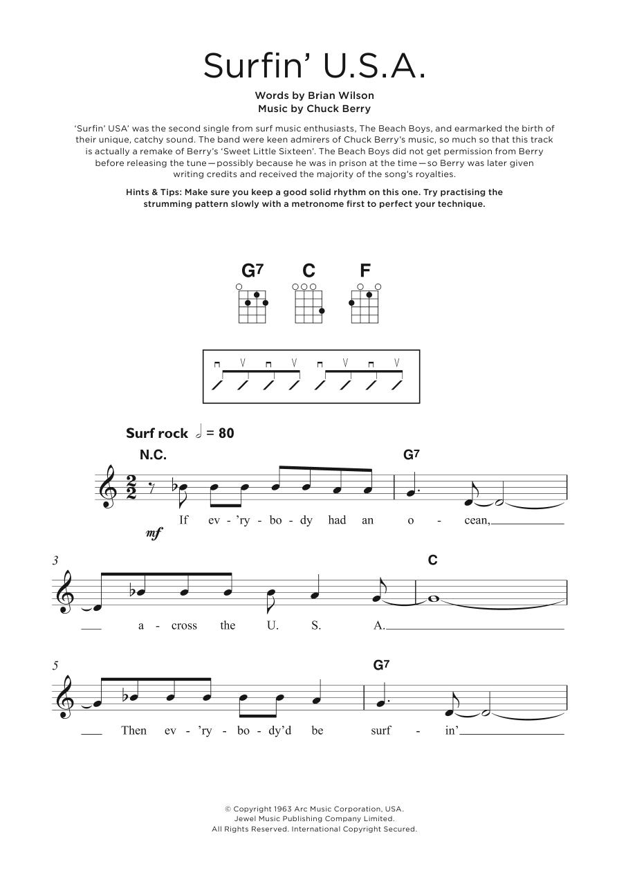 Surfin' U.S.A. Sheet Music