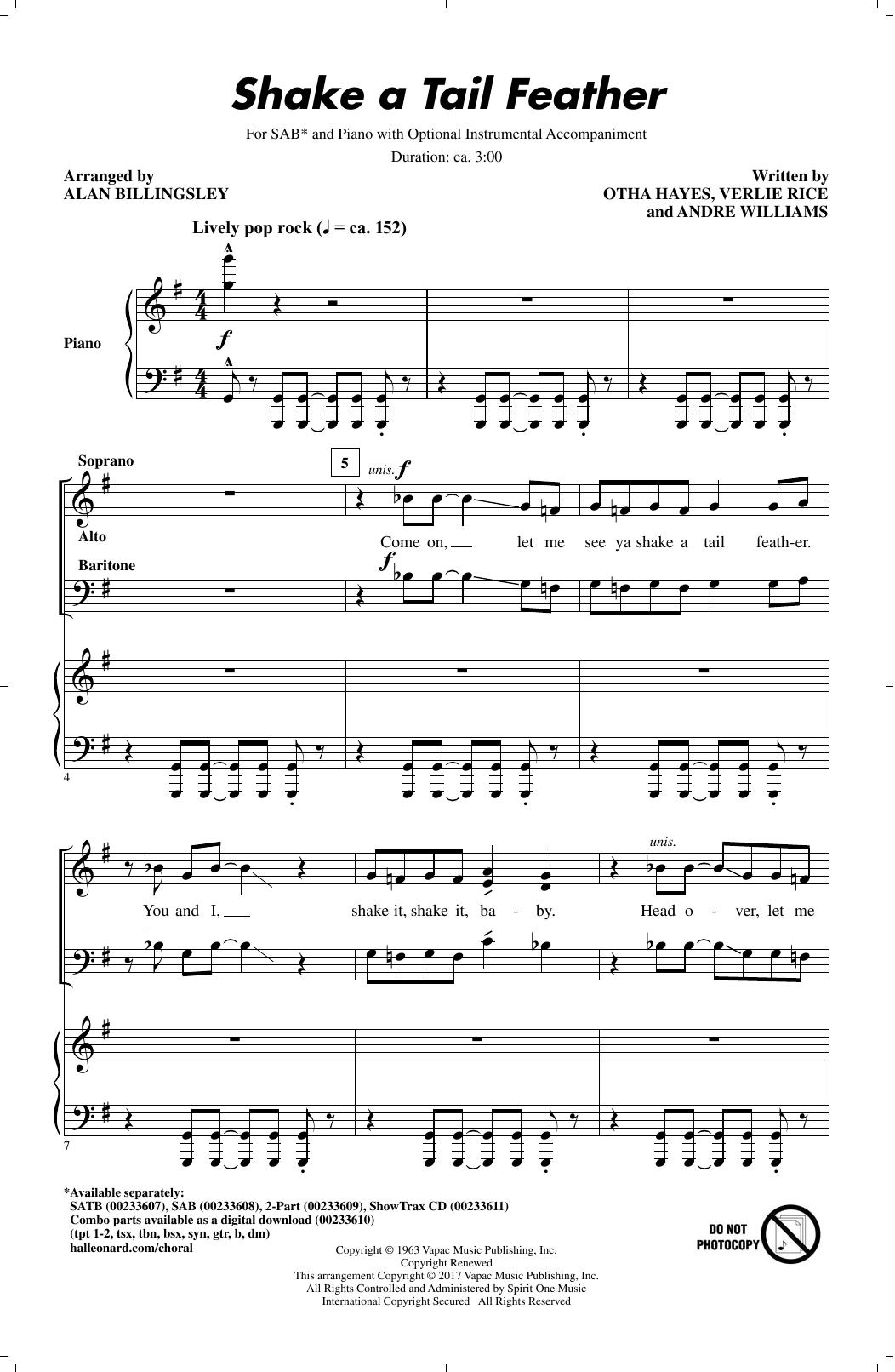 Shake A Tail Feather (SAB Choir)