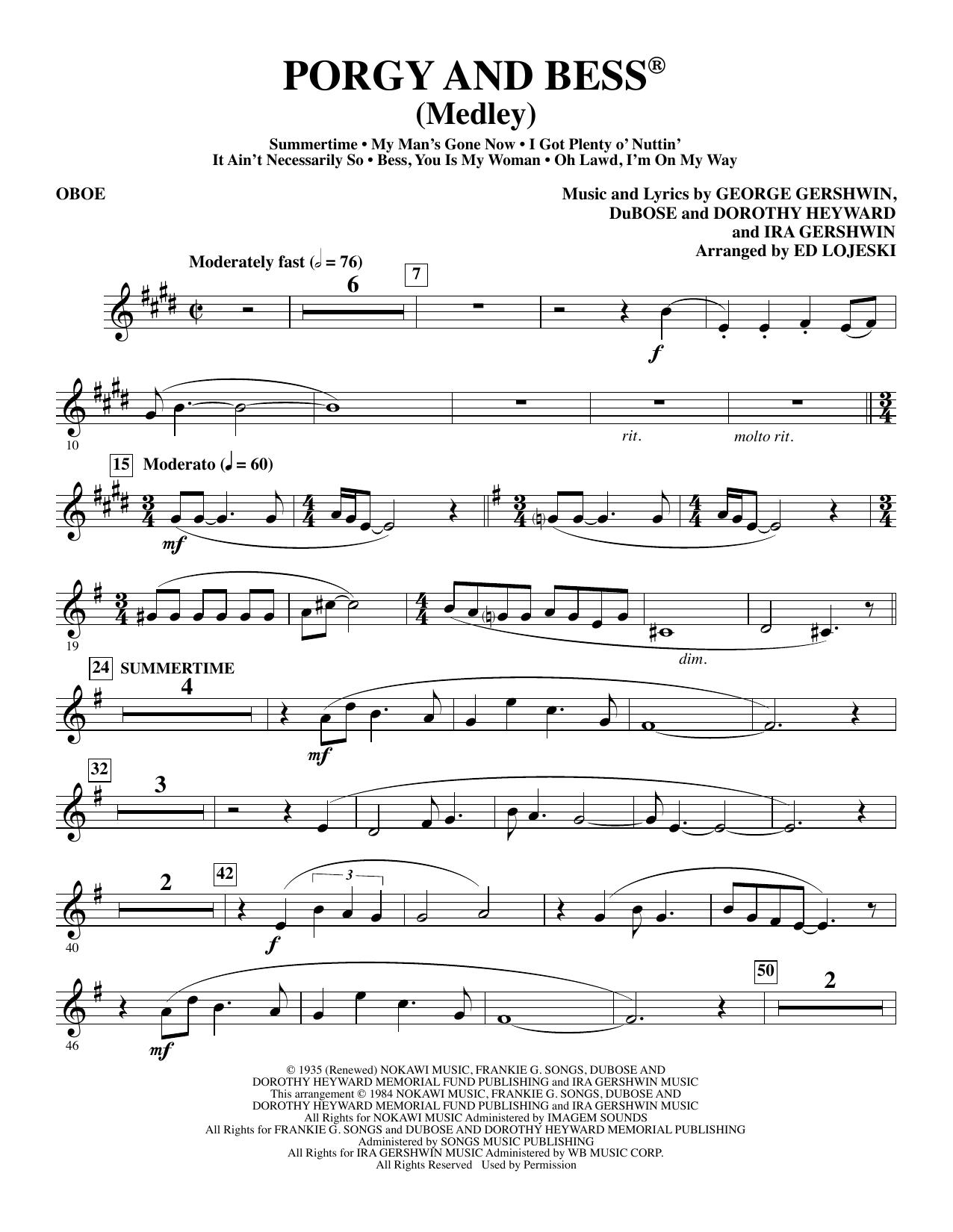 Porgy and Bess (Medley) - Oboe (Choir Instrumental Pak)