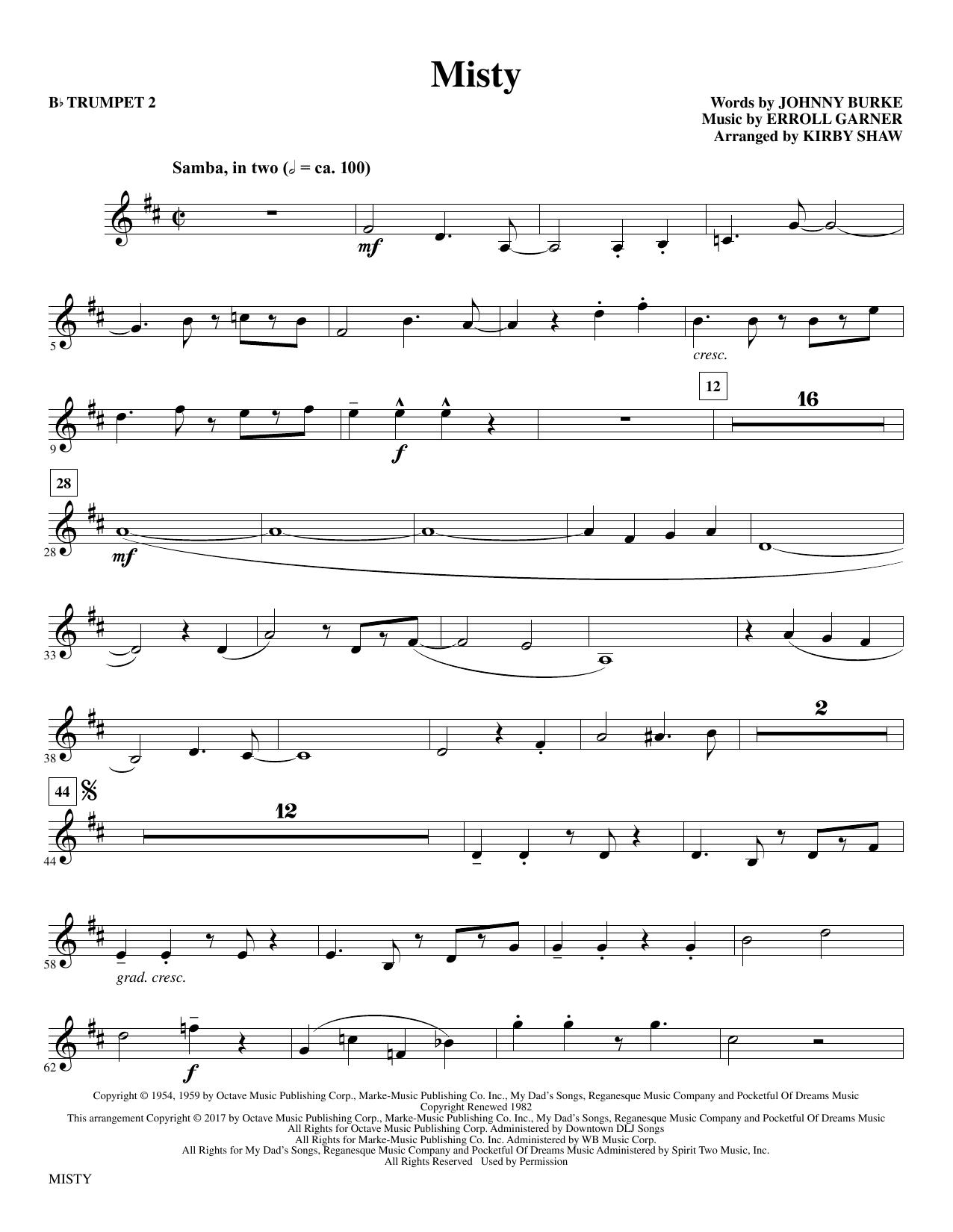 Misty - Bb Trumpet 2 Partituras Digitales