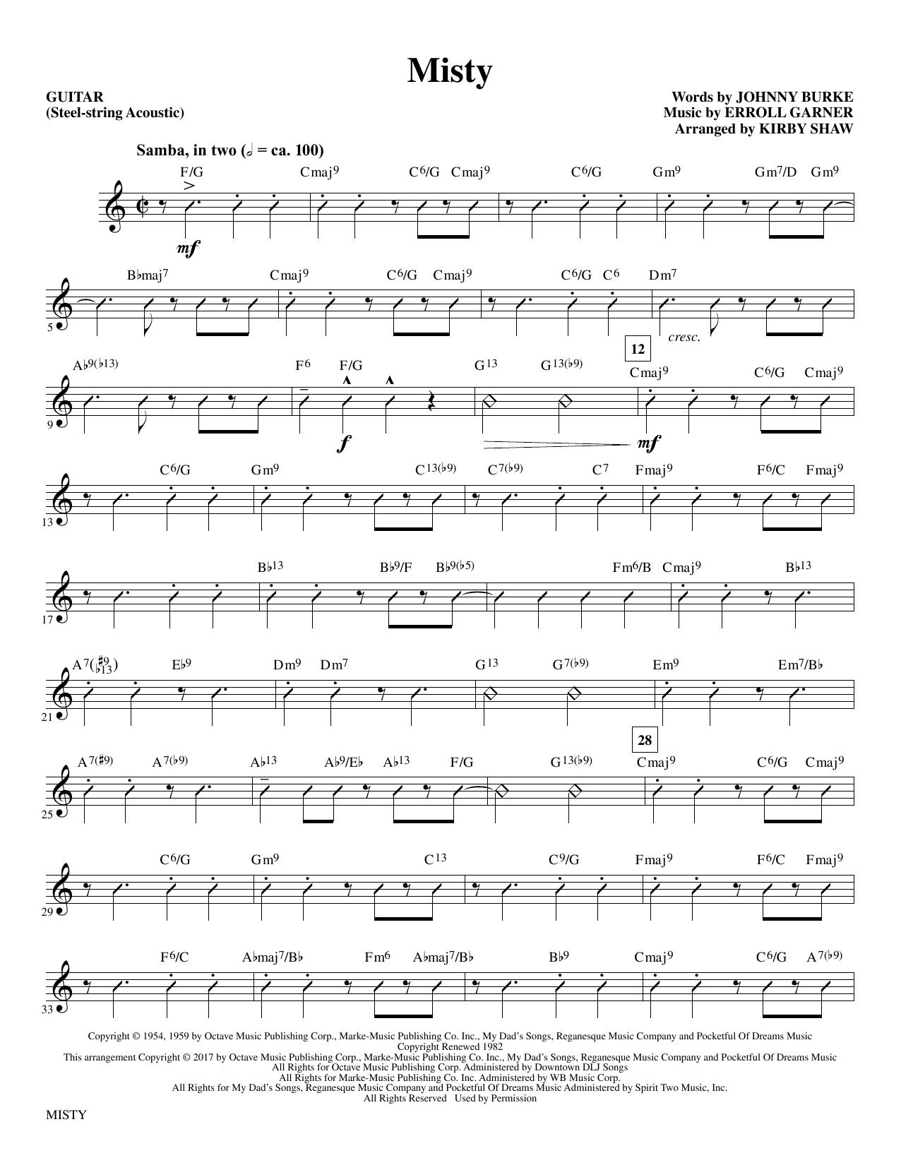 Misty - Guitar Partituras Digitales