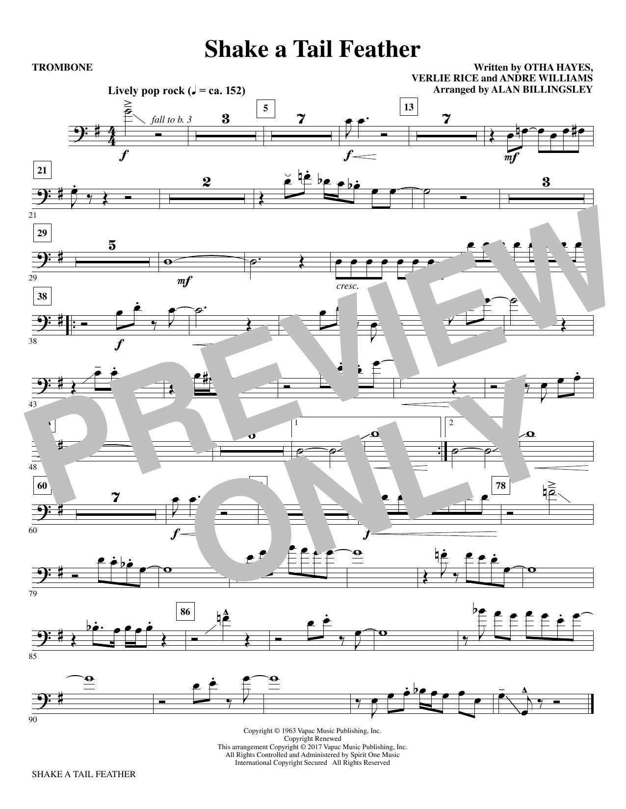 Shake a Tail Feather - Trombone Sheet Music