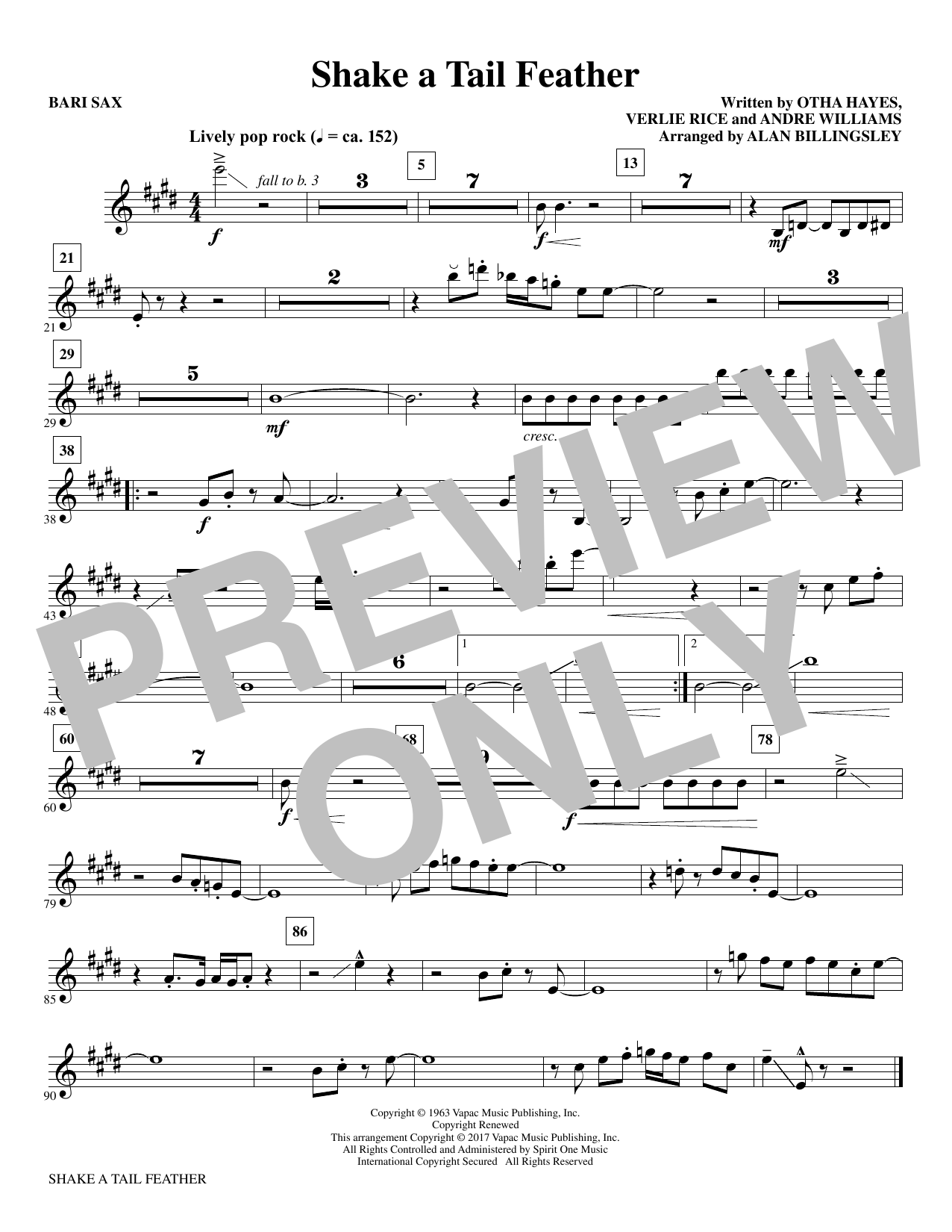 Shake a Tail Feather - Baritone Sax Sheet Music