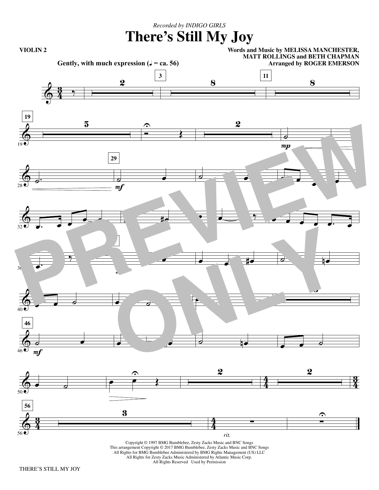 There's Still My Joy - Violin 2 Sheet Music