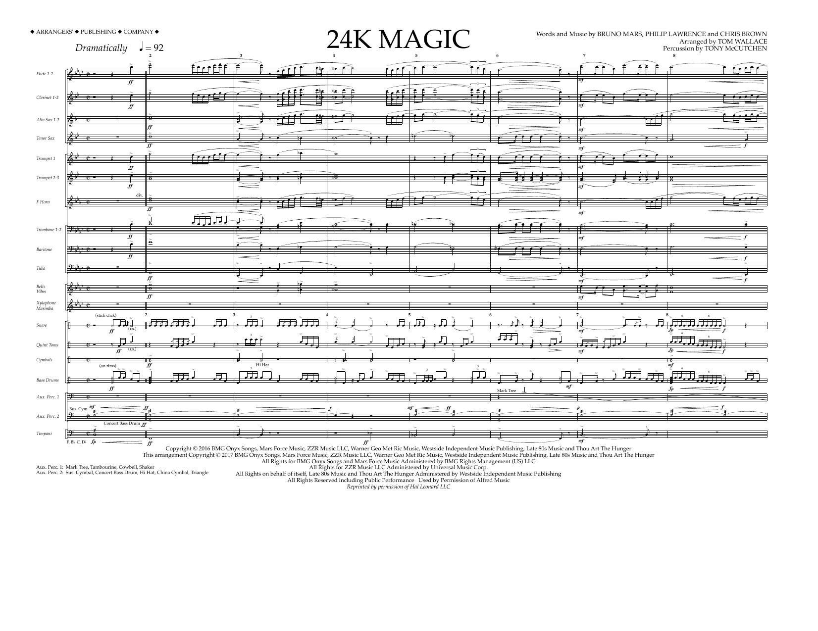24K Magic - Full Score Sheet Music