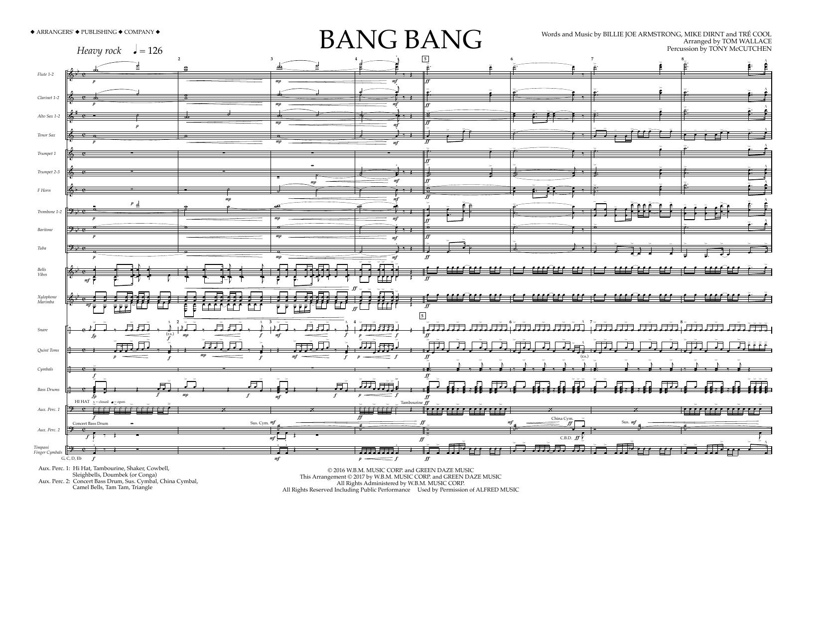 Bang Bang - Full Score Sheet Music