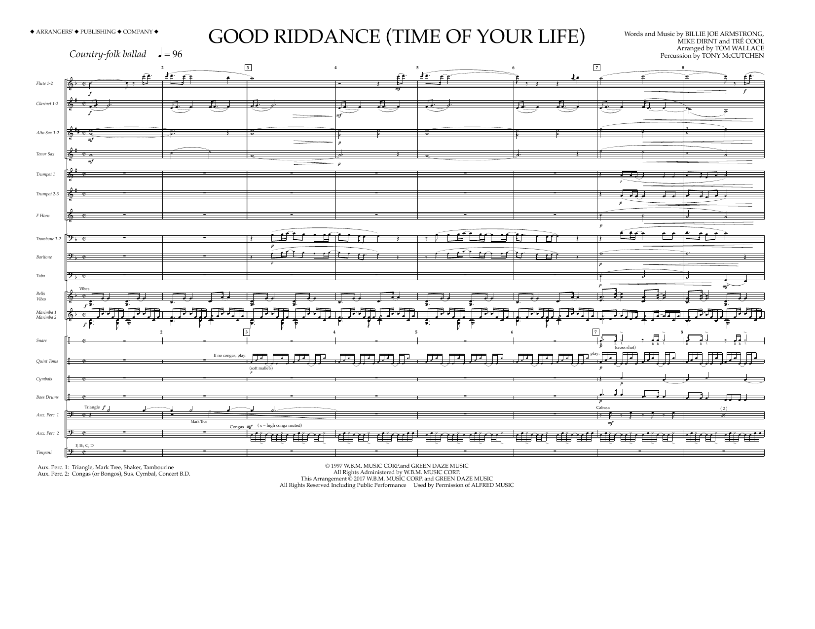 Good Riddance (Time of Your Life) - Full Score Partituras Digitales