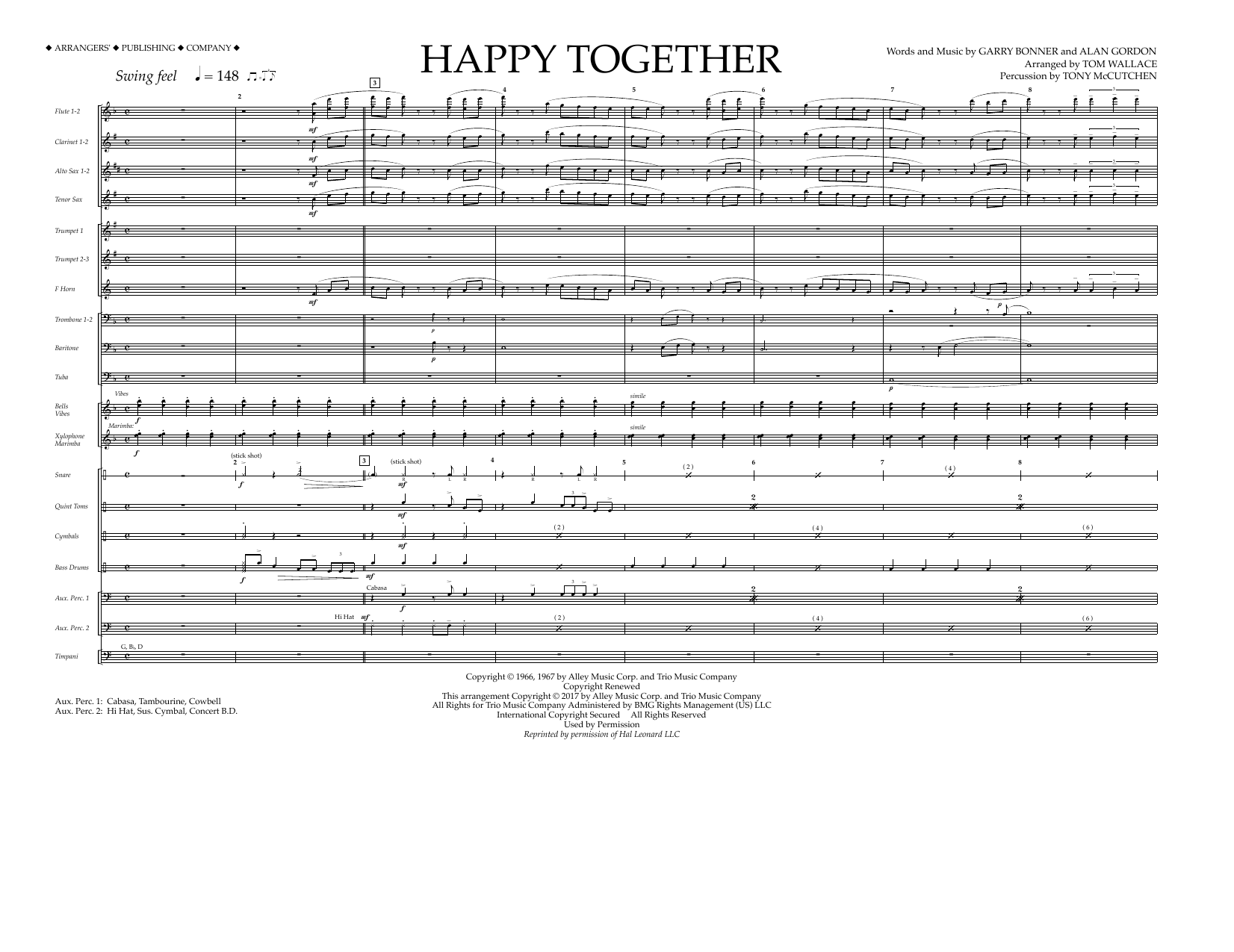 Happy Together - Full Score Sheet Music