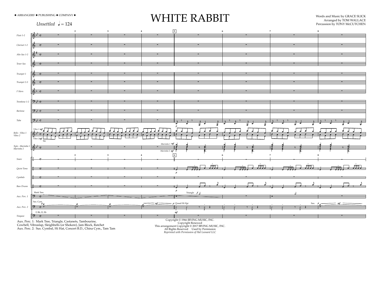 White Rabbit - Full Score Sheet Music