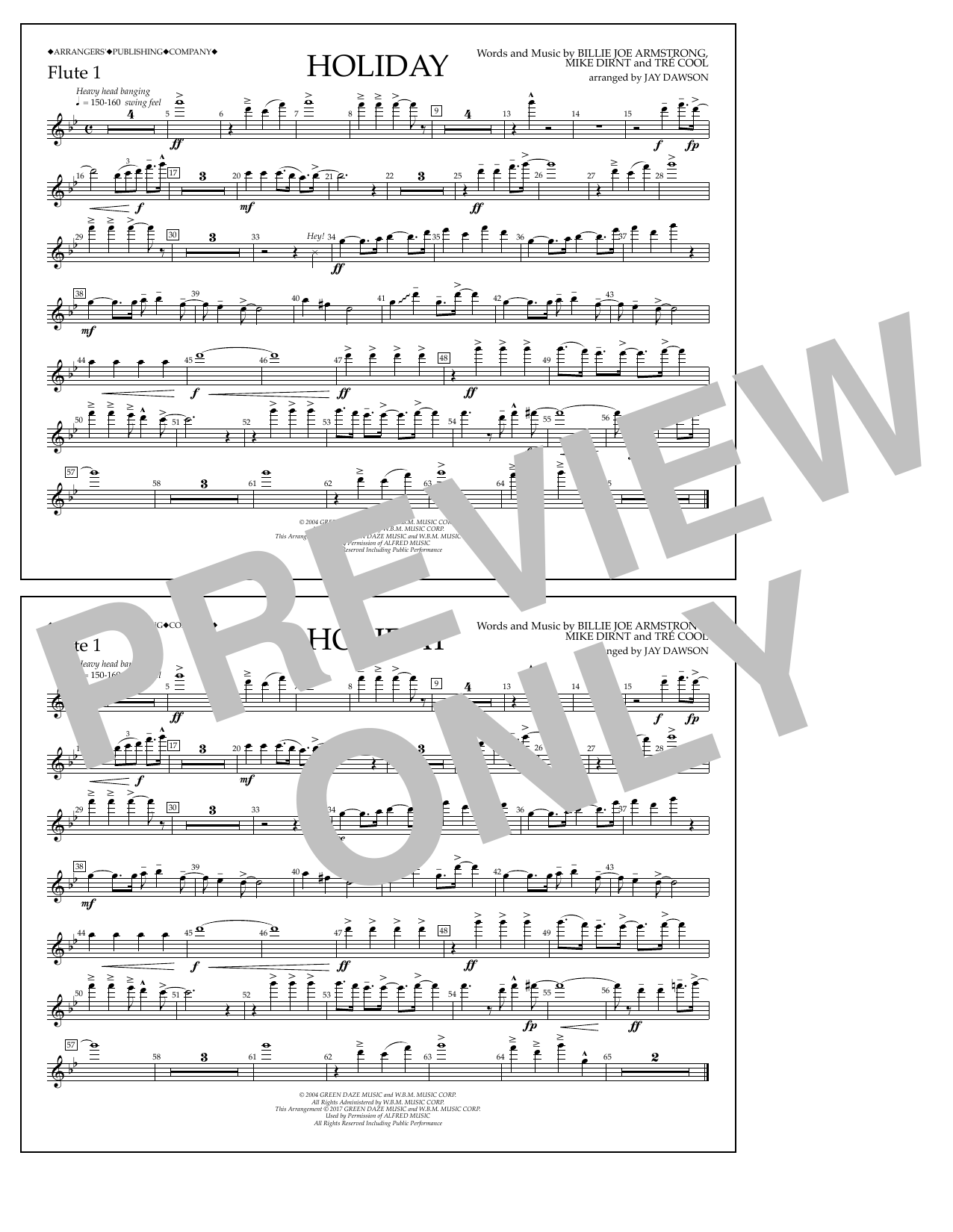 Holiday - Flute 1 Sheet Music