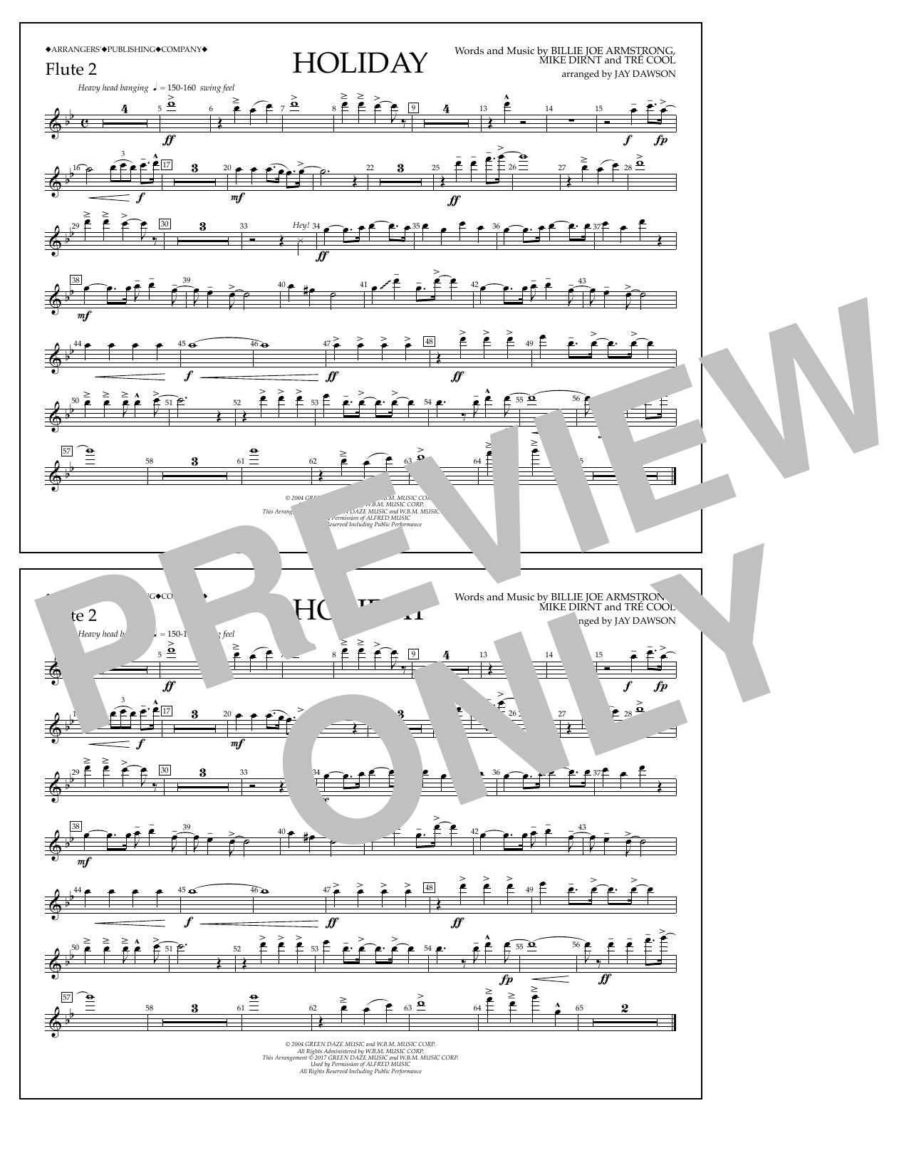 Holiday - Flute 2 Sheet Music