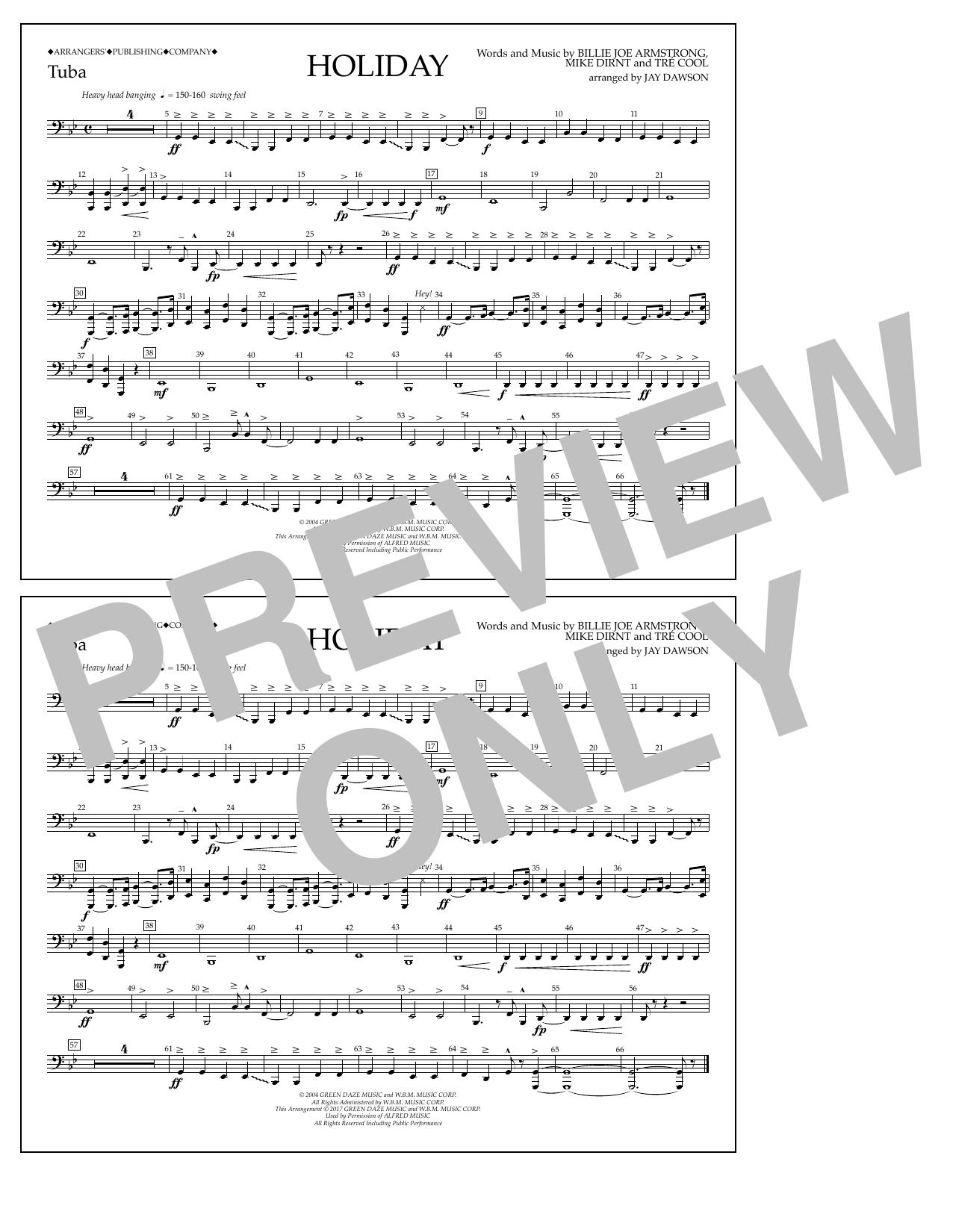 Holiday - Tuba Sheet Music