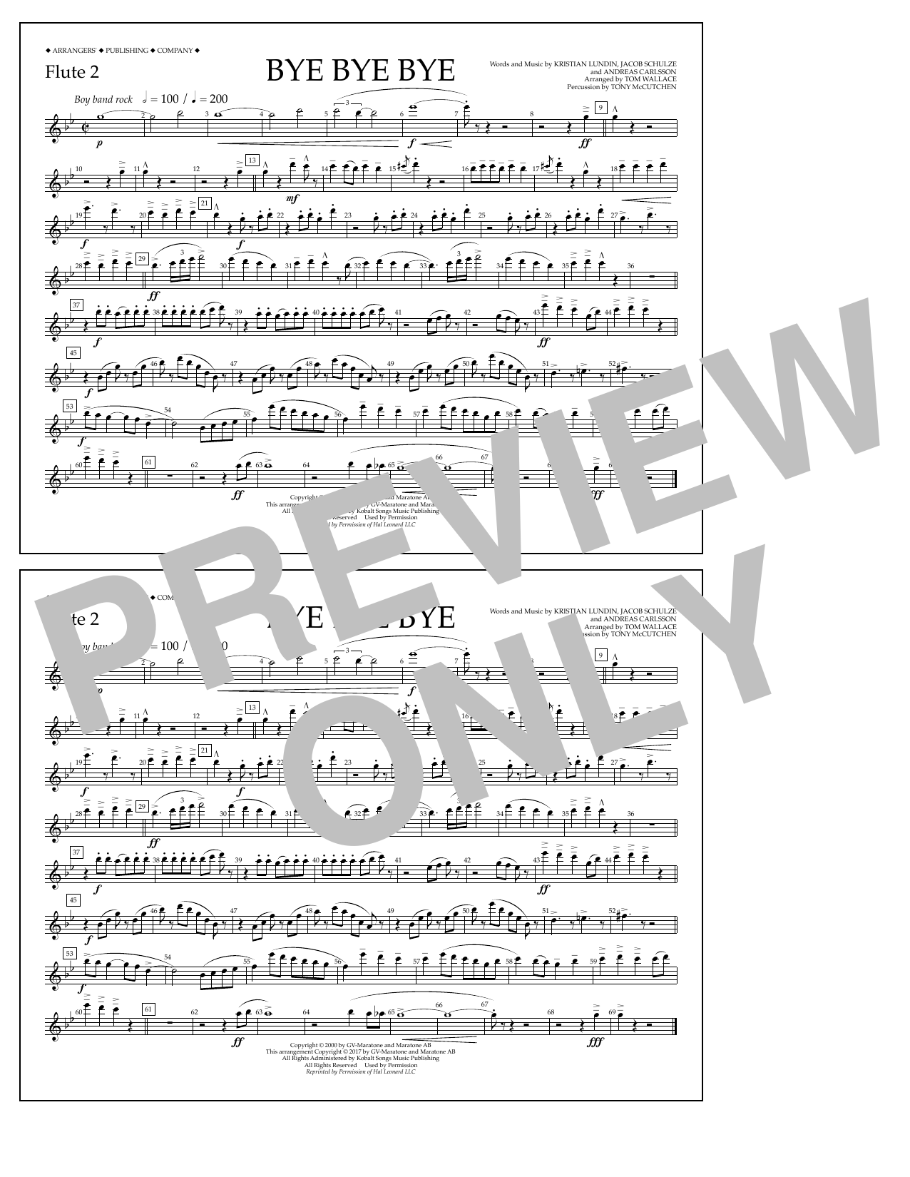 Bye Bye Bye - Flute 2 Sheet Music
