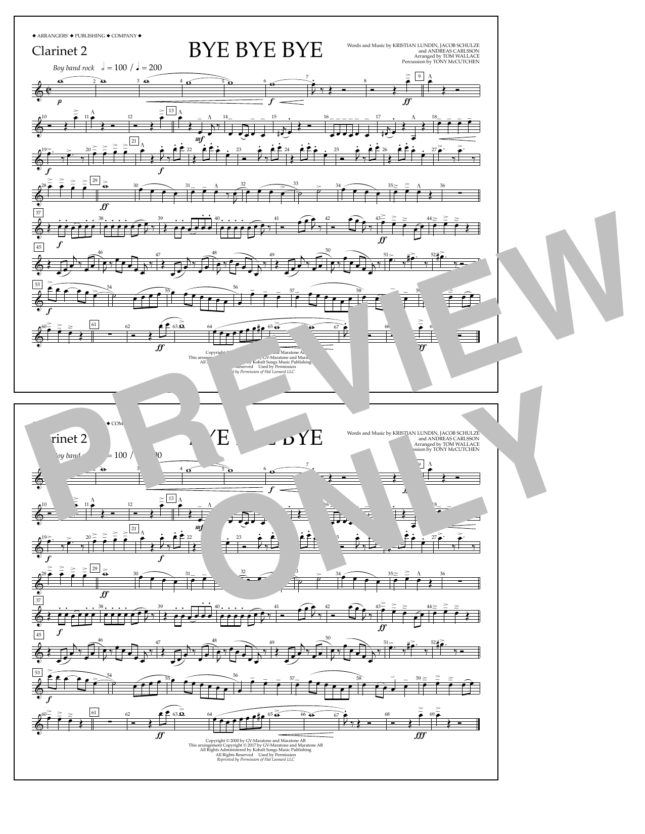 Bye Bye Bye - Clarinet 2 Sheet Music