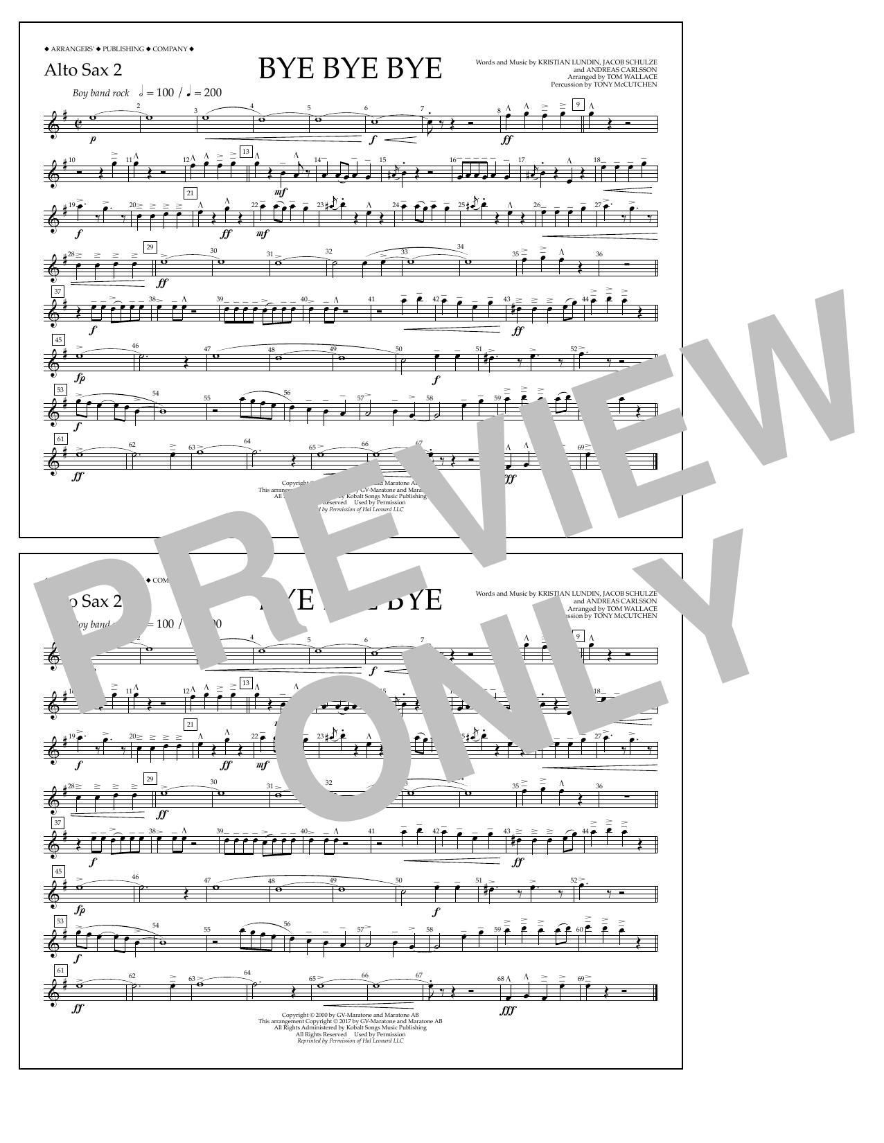 Bye Bye Bye - Alto Sax 2 Sheet Music