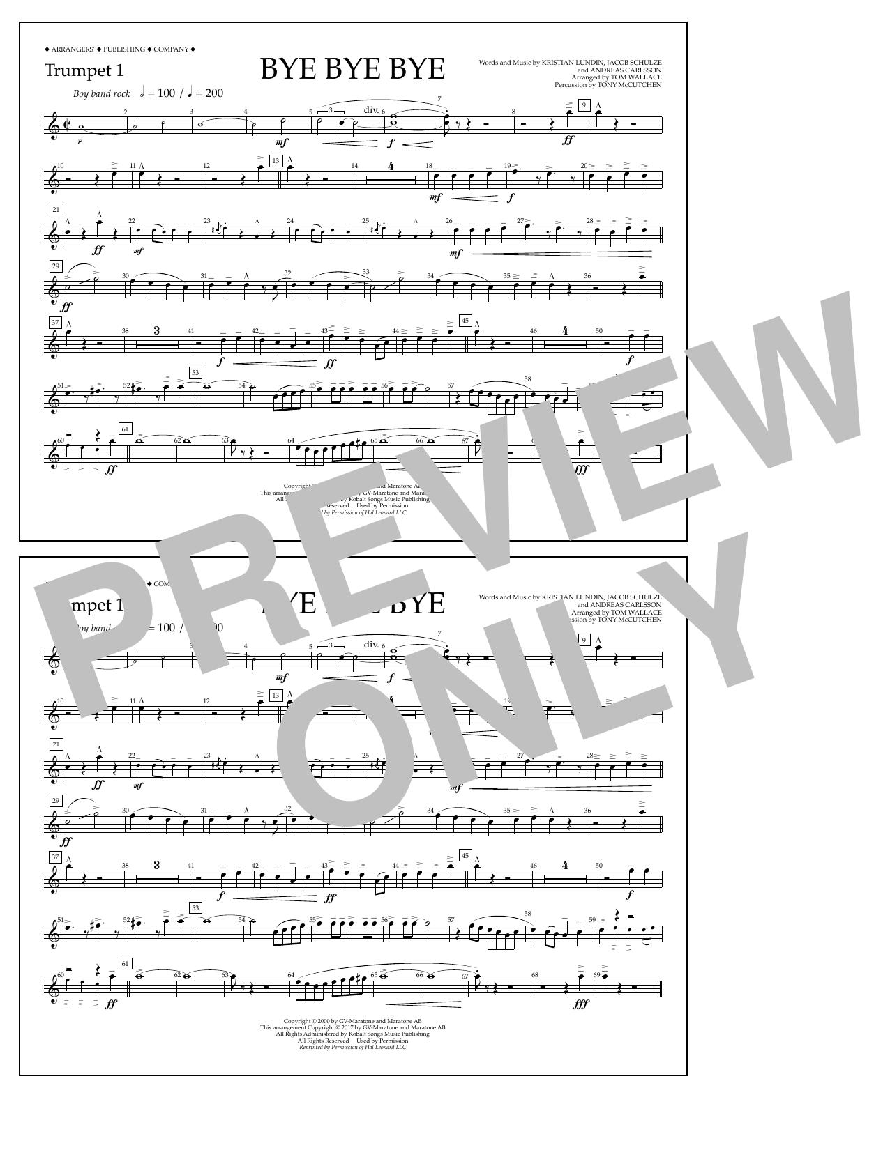 Bye Bye Bye - Trumpet 1 Sheet Music