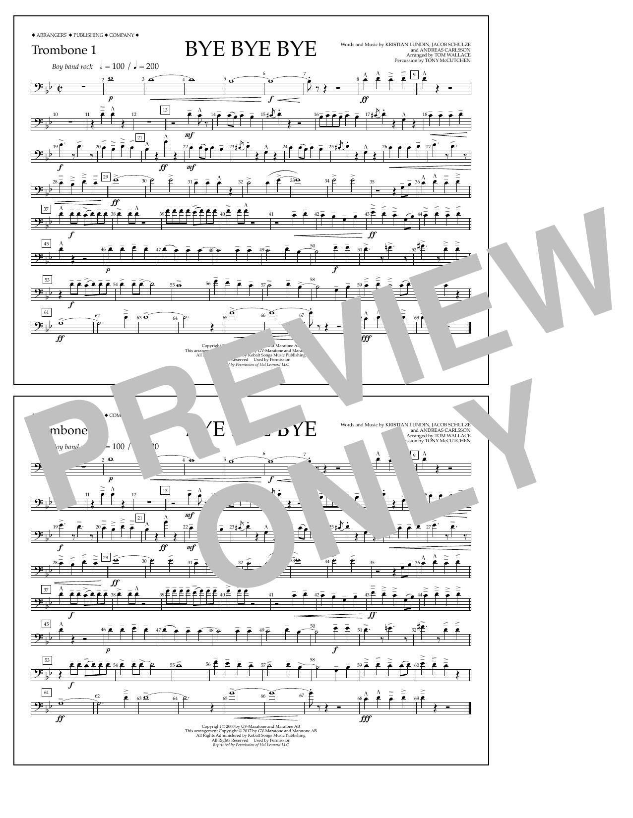 Bye Bye Bye - Trombone 1 Sheet Music