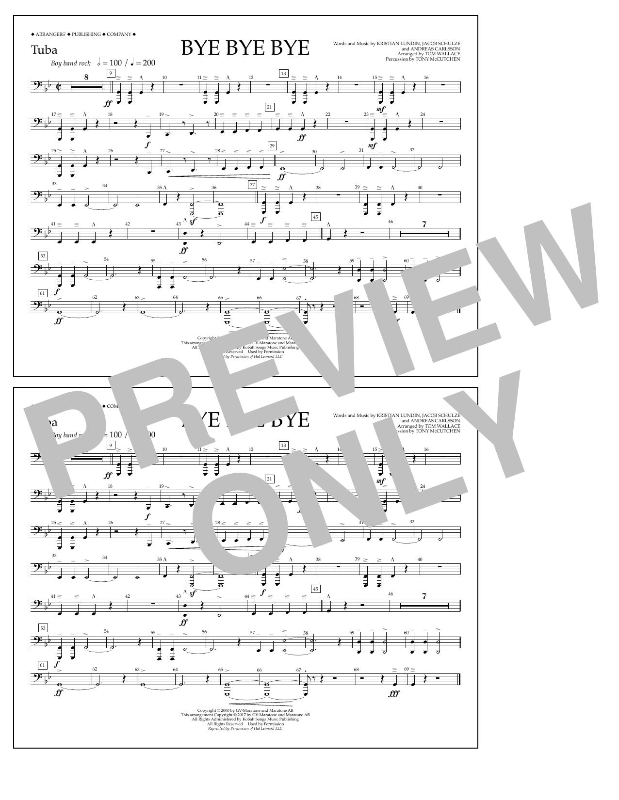 Bye Bye Bye - Tuba Sheet Music
