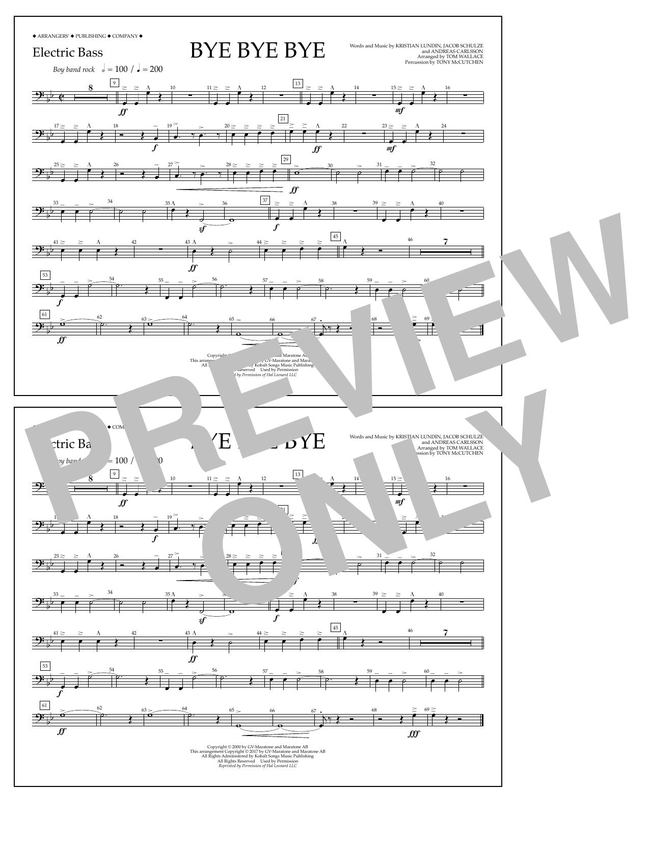 Bye Bye Bye - Electric Bass Sheet Music