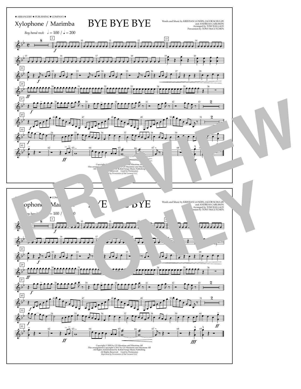 Bye Bye Bye - Xylophone/Marimba Sheet Music