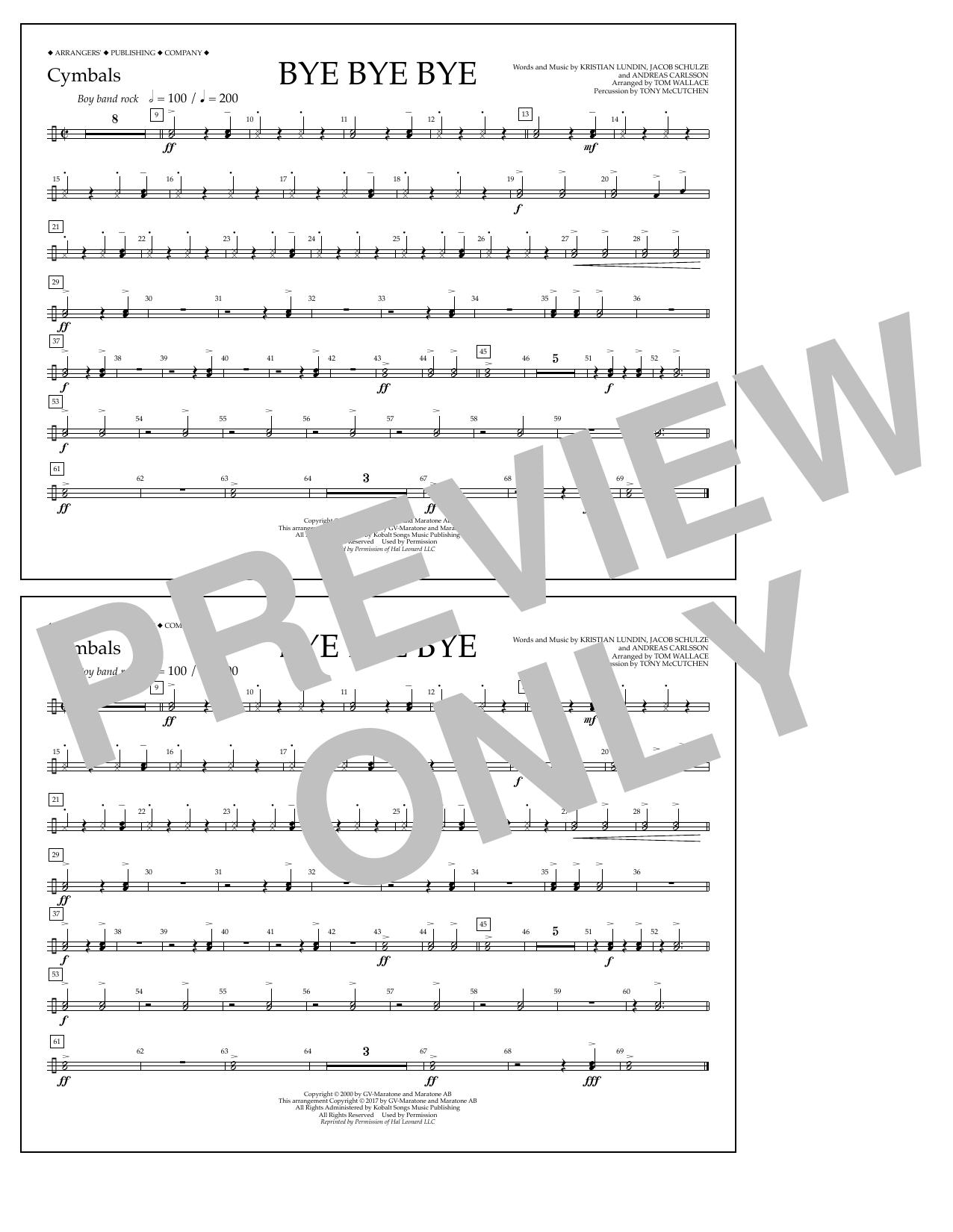 Bye Bye Bye - Cymbals Digitale Noten