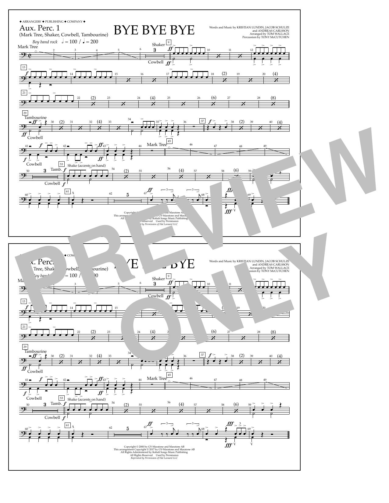 Bye Bye Bye - Aux. Perc. 1 Sheet Music