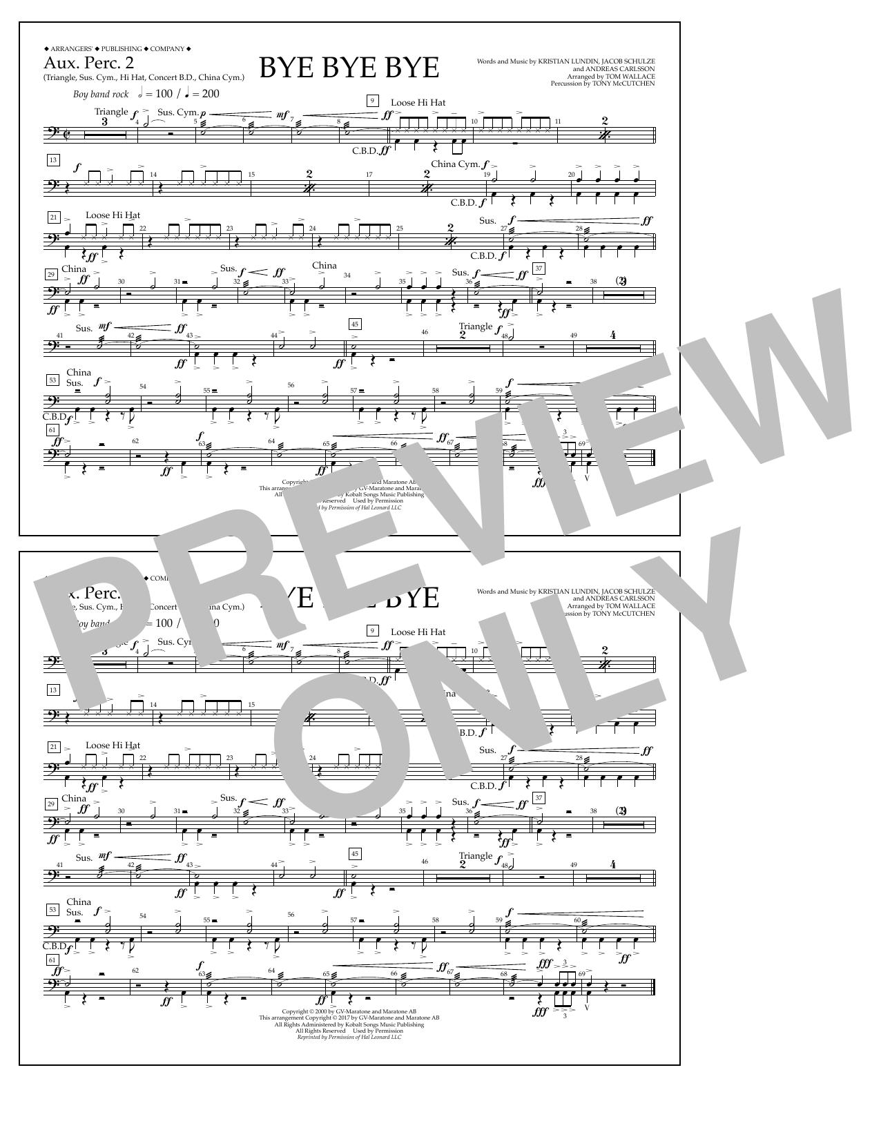 Bye Bye Bye - Aux. Perc. 2 Sheet Music