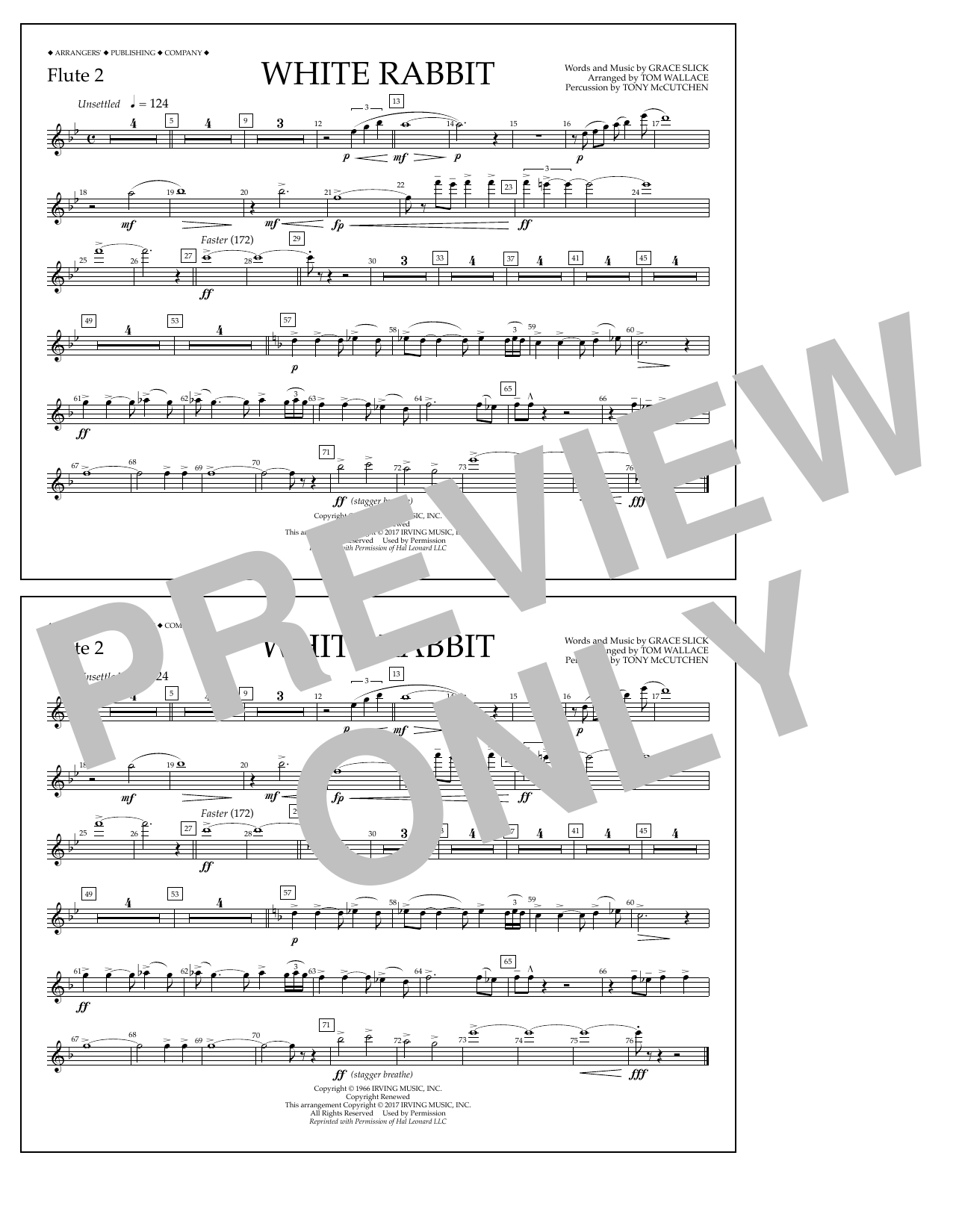 White Rabbit - Flute 2 Sheet Music