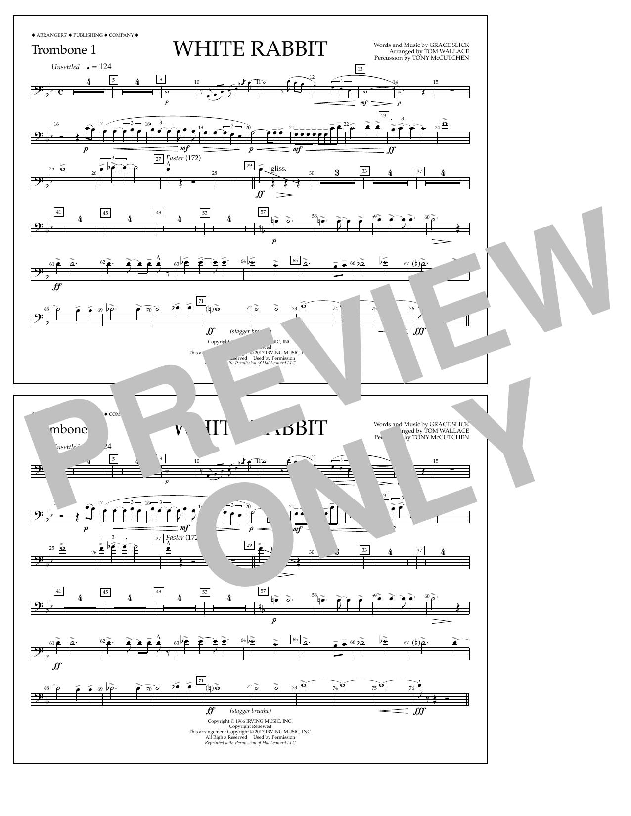 White Rabbit - Trombone 1 Sheet Music