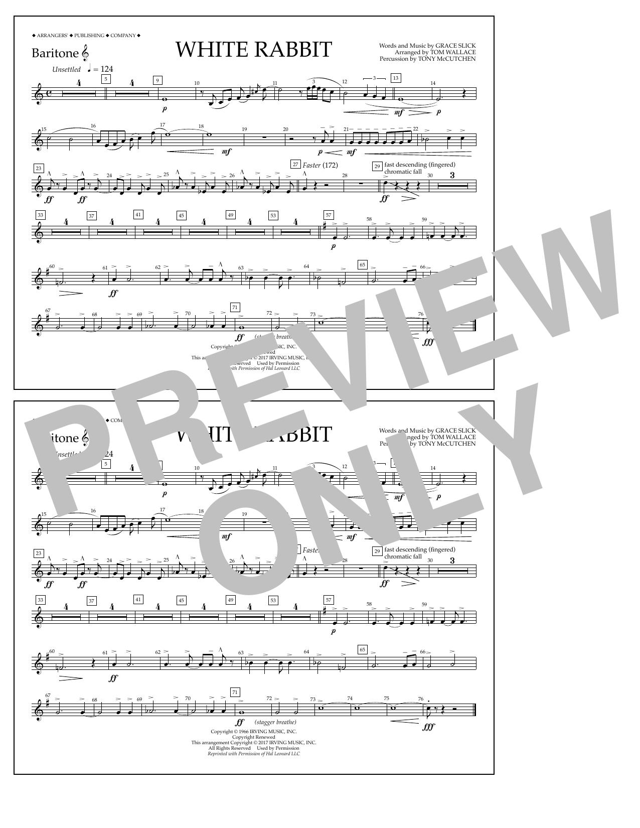 White Rabbit - Baritone T.C. Sheet Music