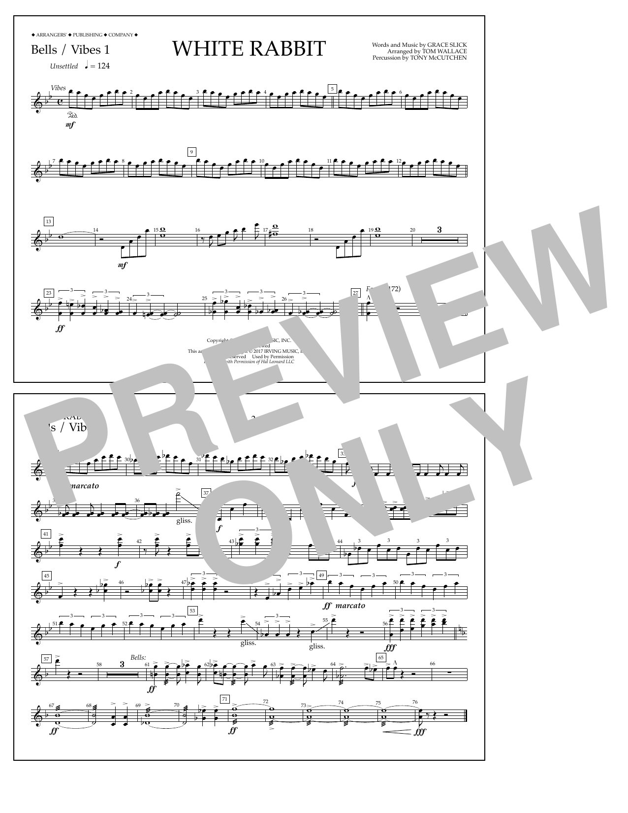 White Rabbit - Bells/Vibes 1 Sheet Music
