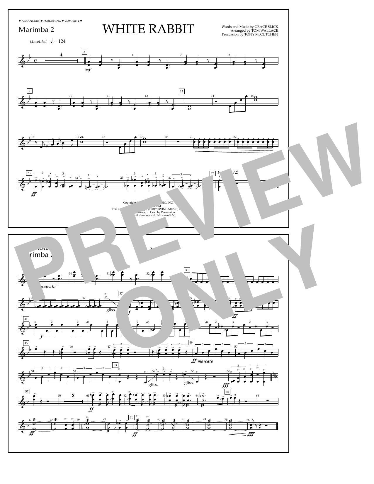 White Rabbit - Marimba 2 Sheet Music