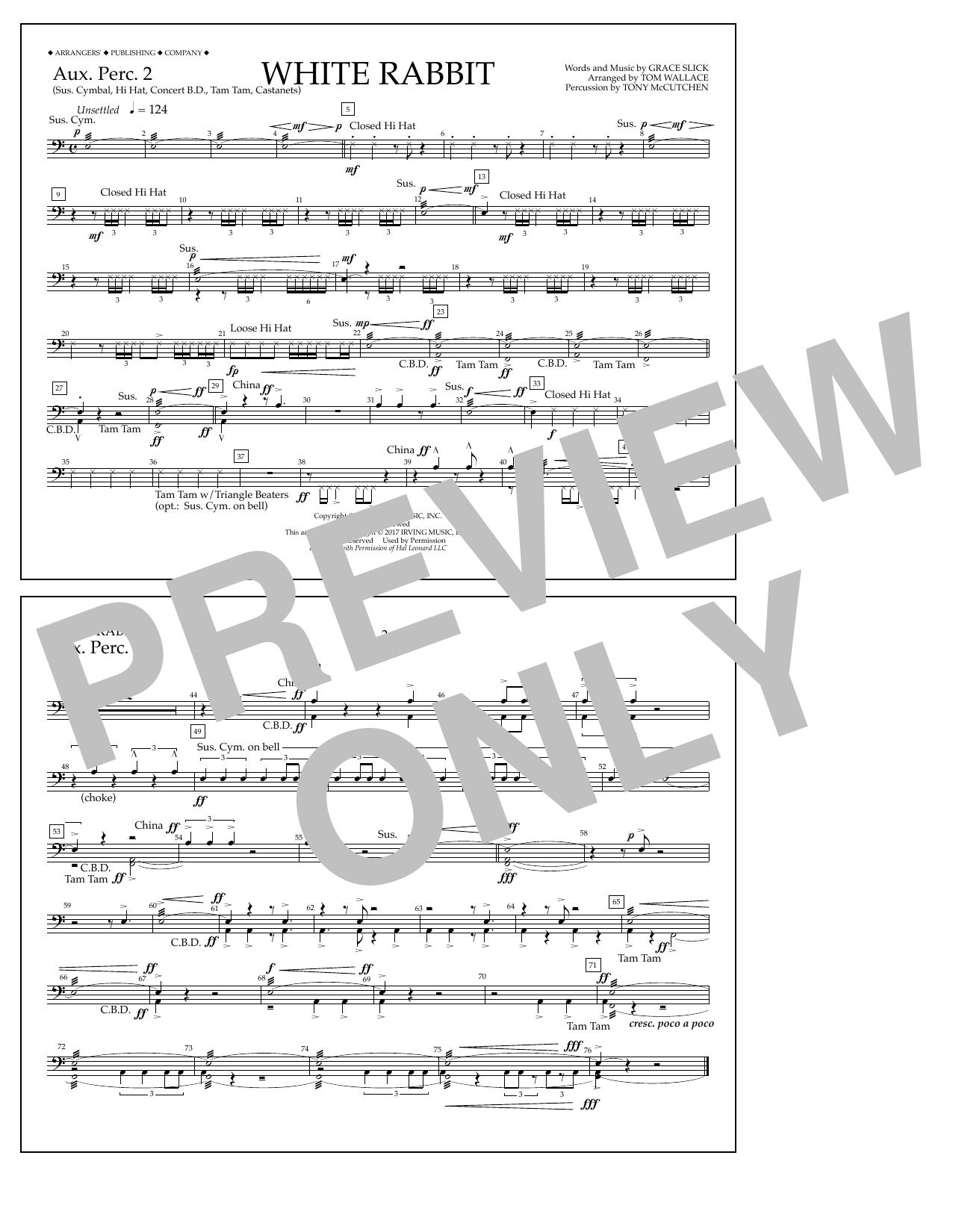 White Rabbit - Aux. Perc. 2 Sheet Music