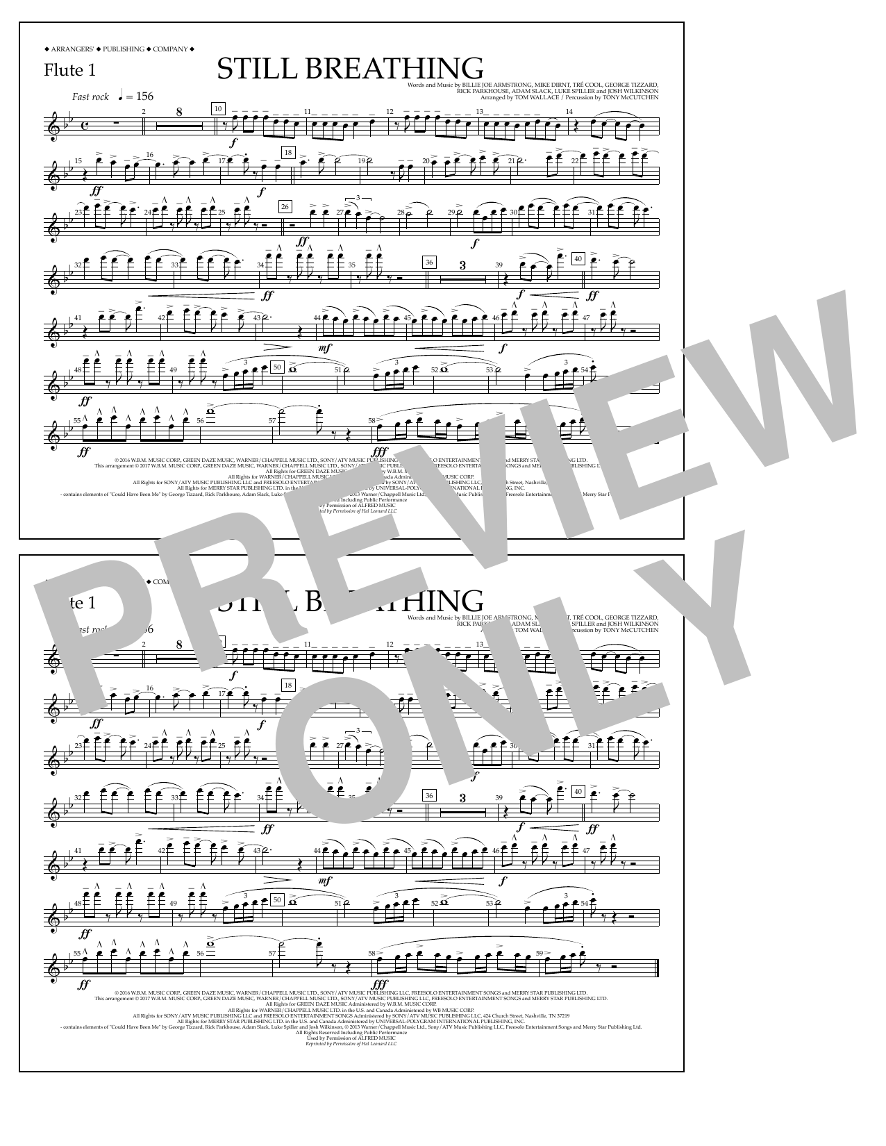 Still Breathing - Flute 1 Sheet Music
