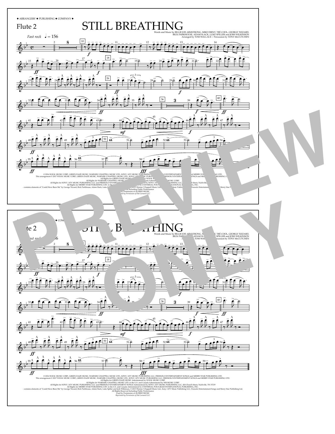 Still Breathing - Flute 2 Sheet Music