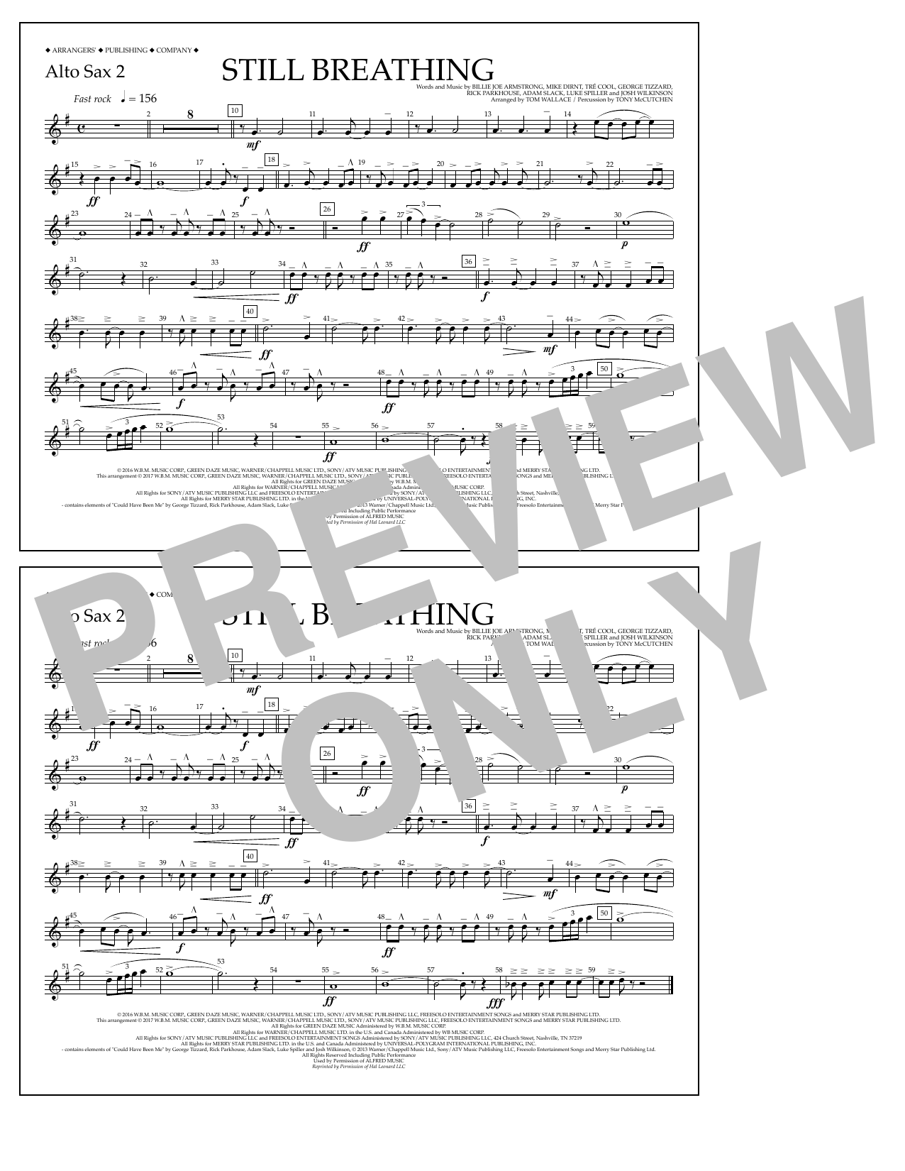 Still Breathing - Alto Sax 2 Sheet Music
