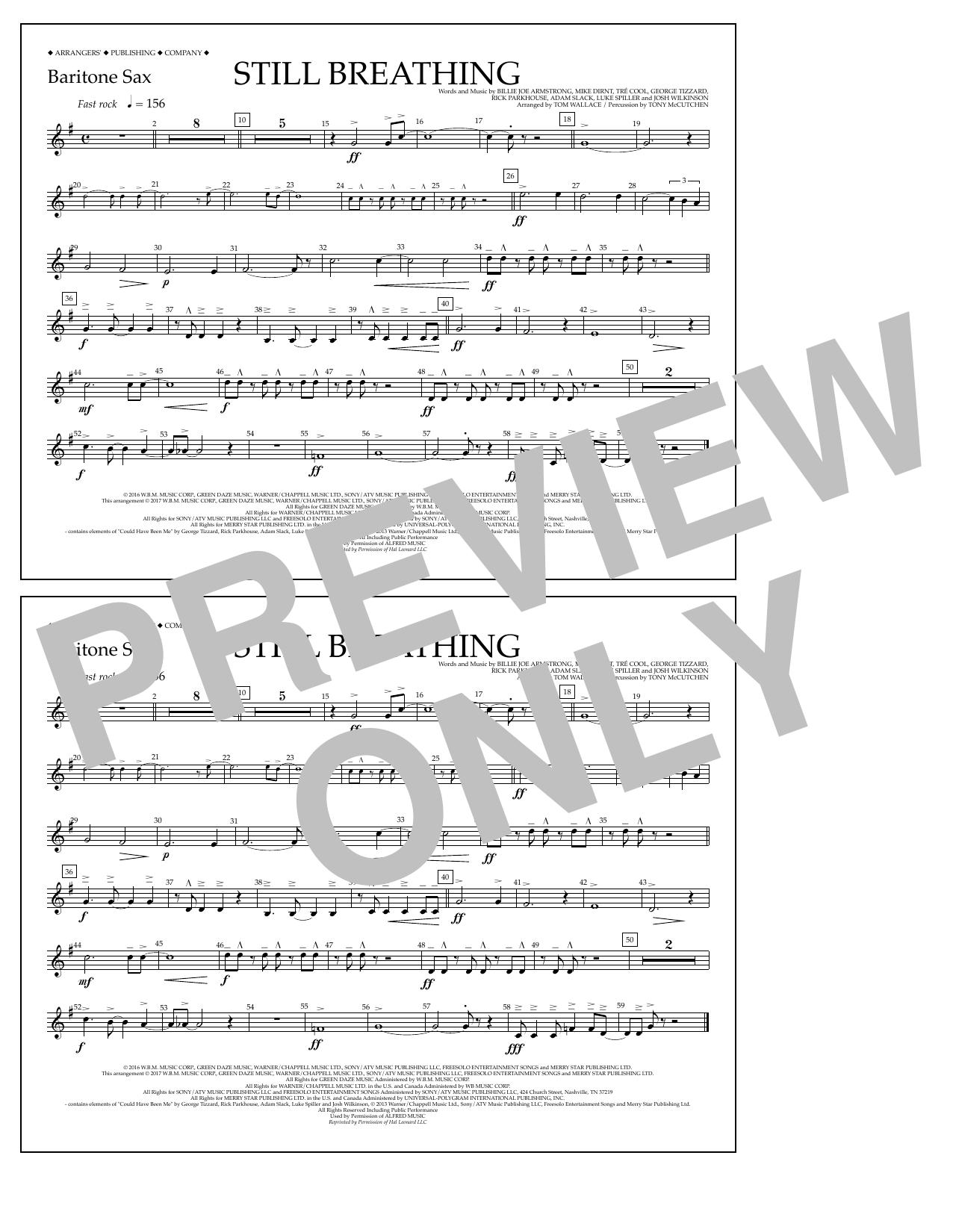 Still Breathing - Baritone Sax Sheet Music