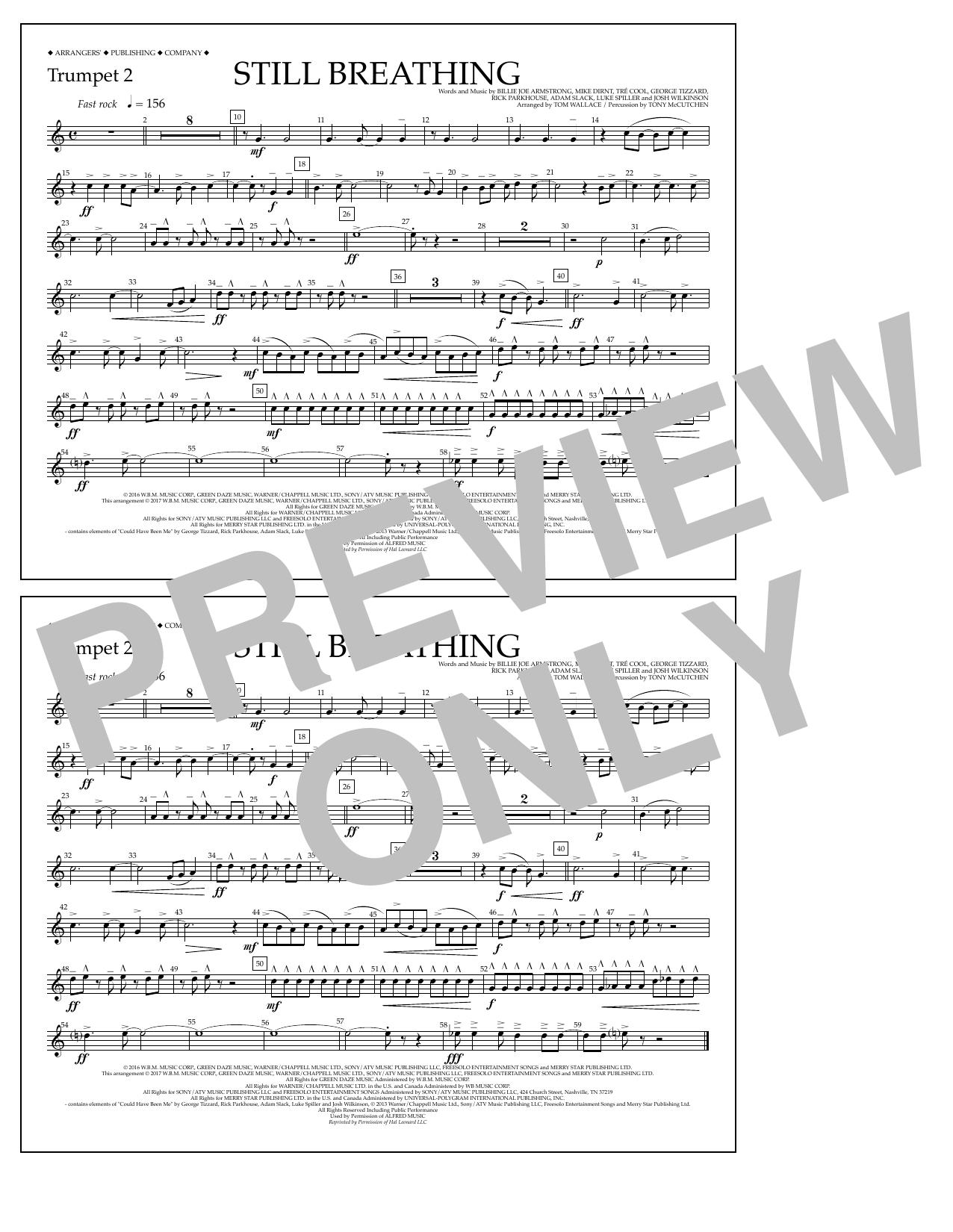 Still Breathing - Trumpet 2 Sheet Music
