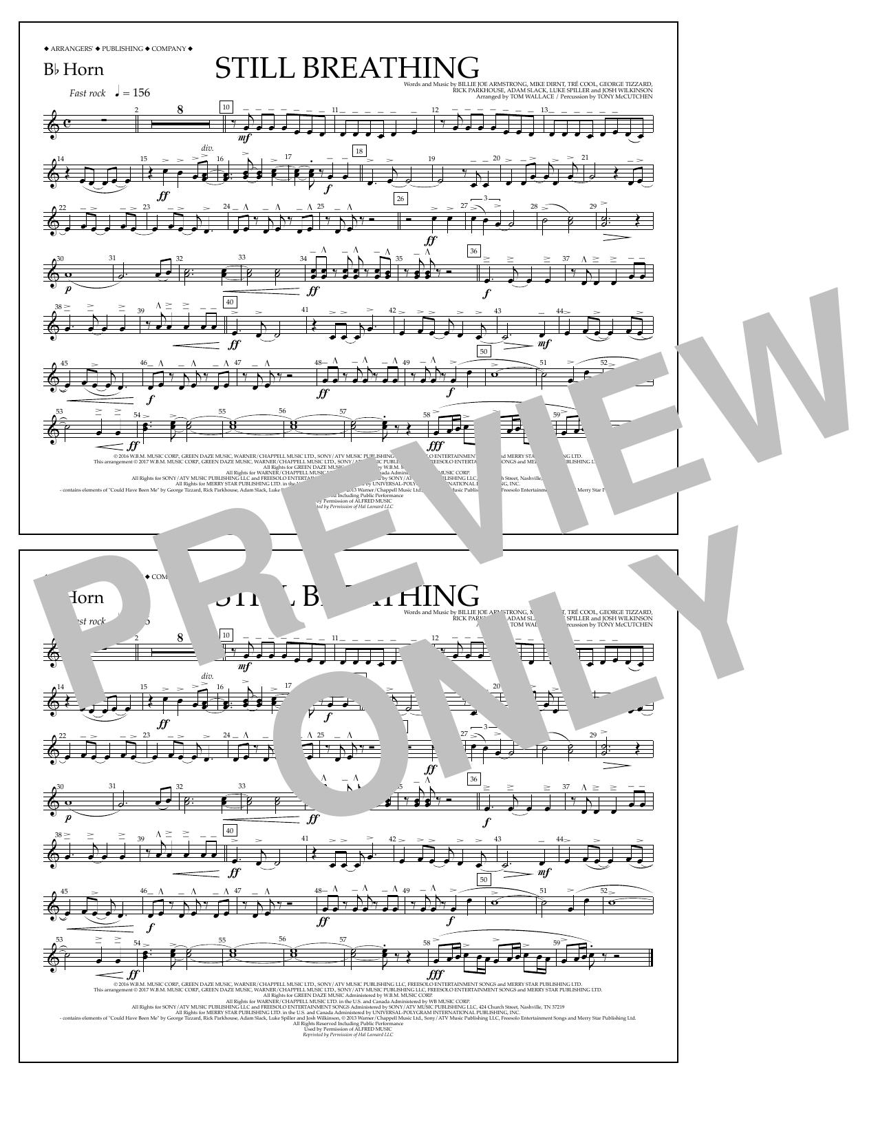 Still Breathing - Bb Horn Sheet Music