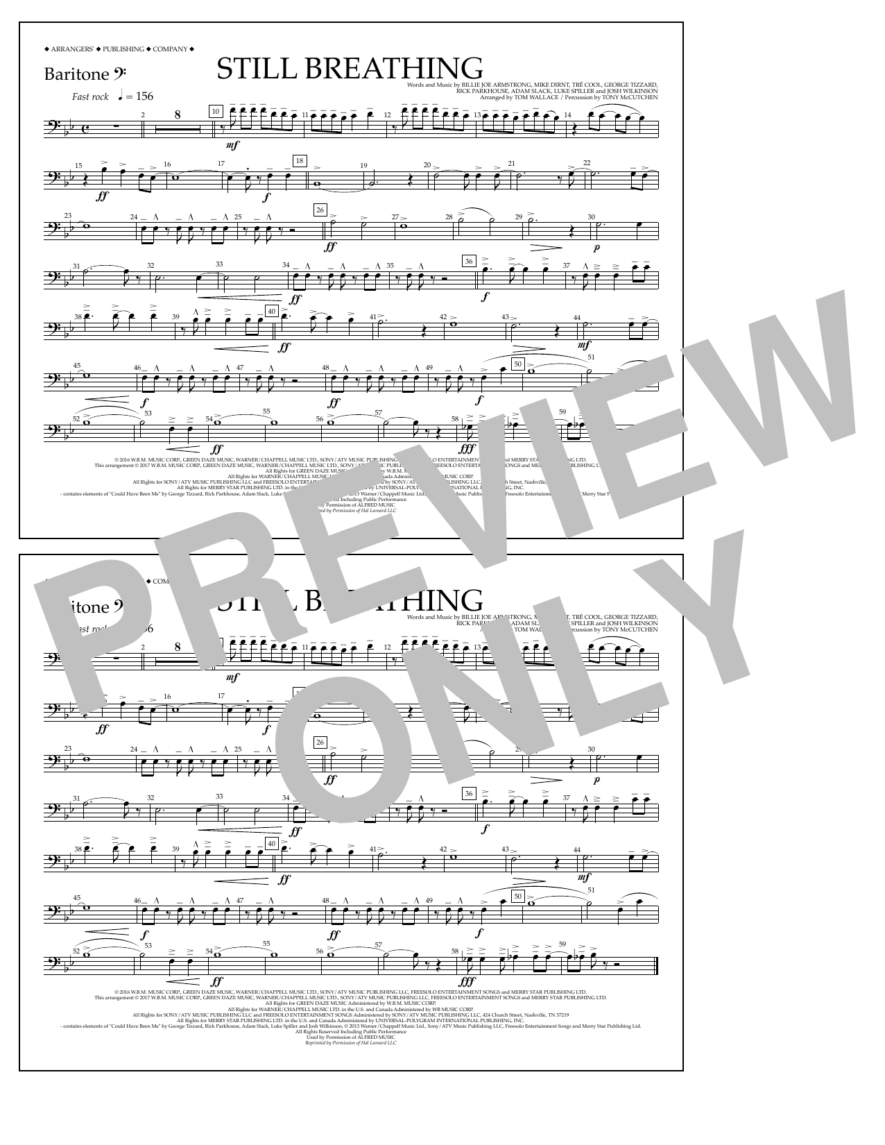 Still Breathing - Baritone B.C. Sheet Music
