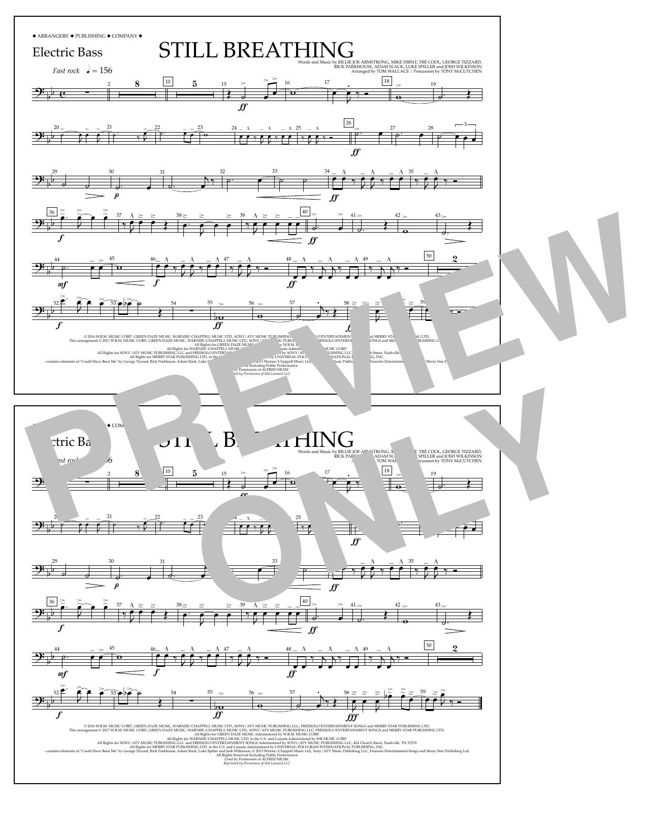 Still Breathing - Electric Bass Sheet Music